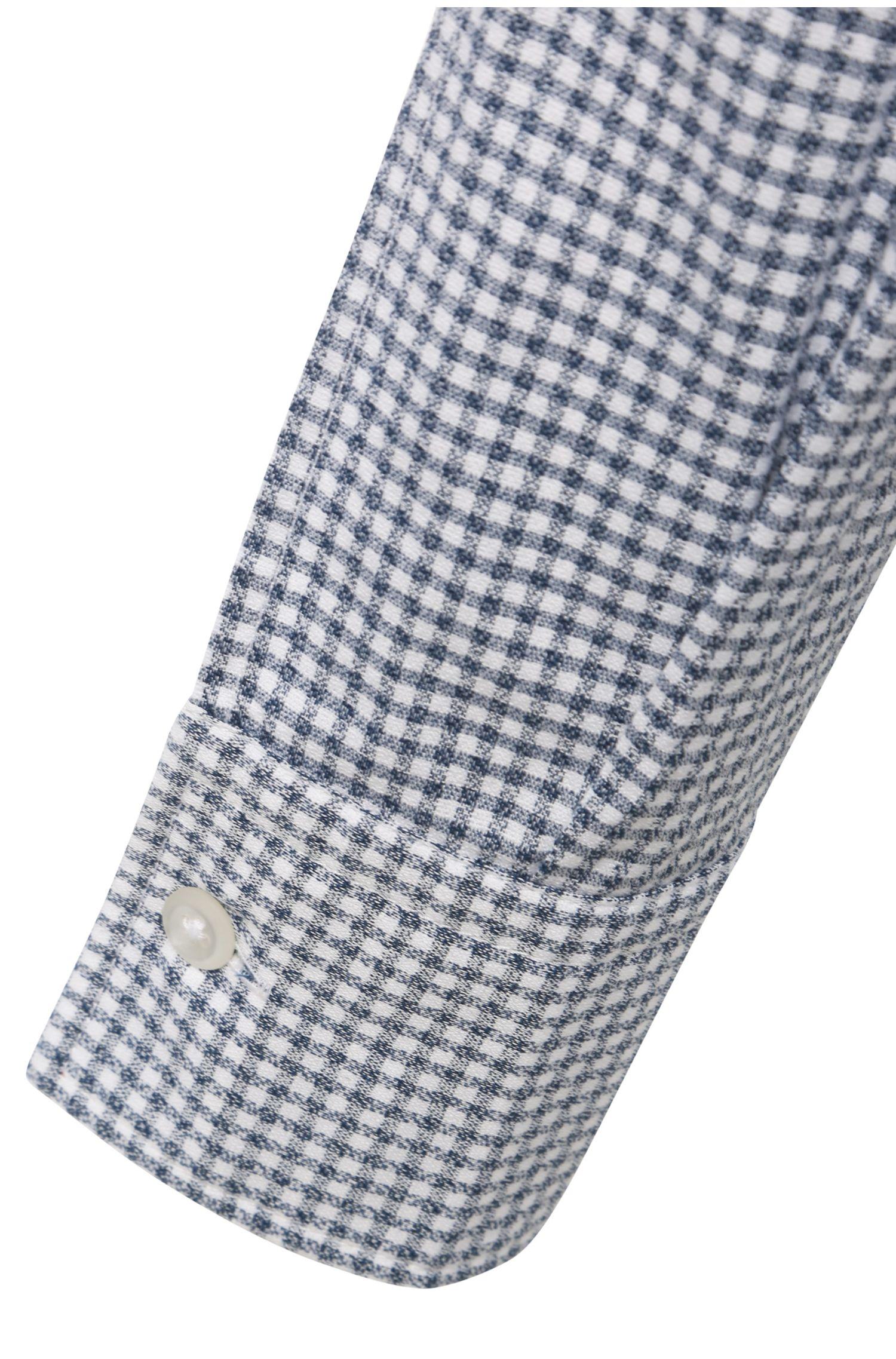 Slim-Fit Hemd aus karierter Baumwolle: ´EdipoE`