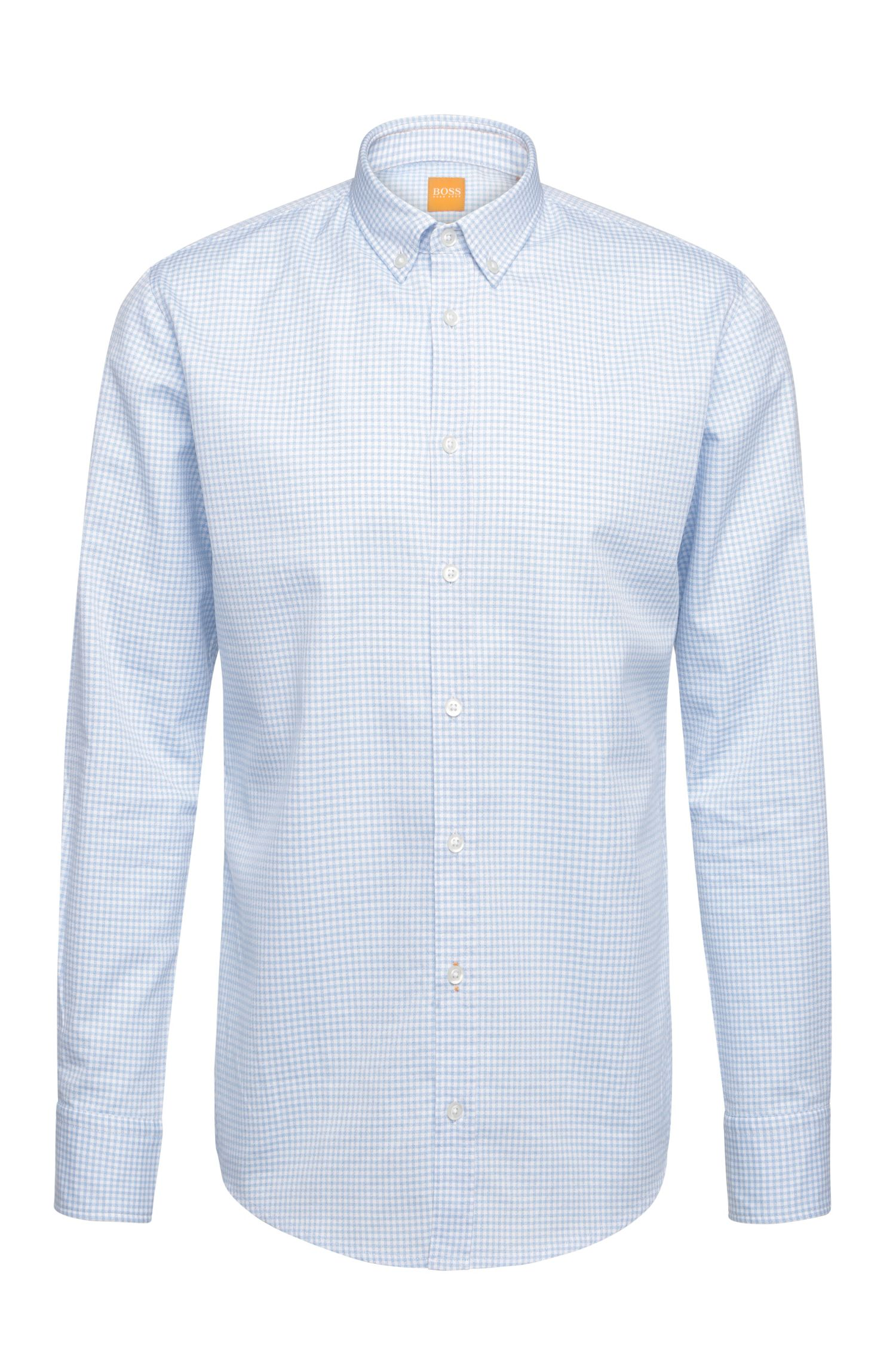 Checked slim-fit shirt in cotton: 'EdipoE'