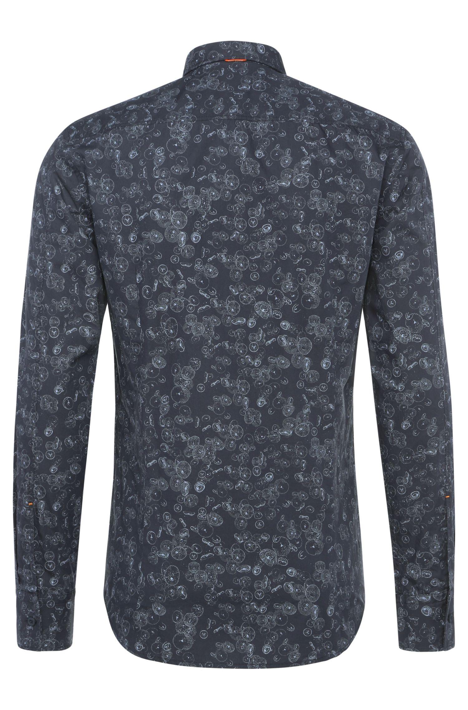 Chemise Slim Fit à motif en coton: «EdipoE»