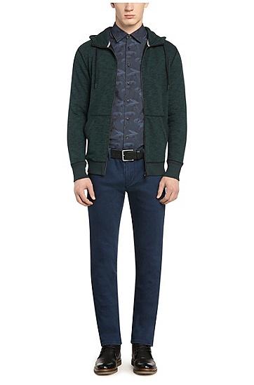 Slim-Fit Baumwollhemd mit Muster: ´EnameE`, Dunkelblau