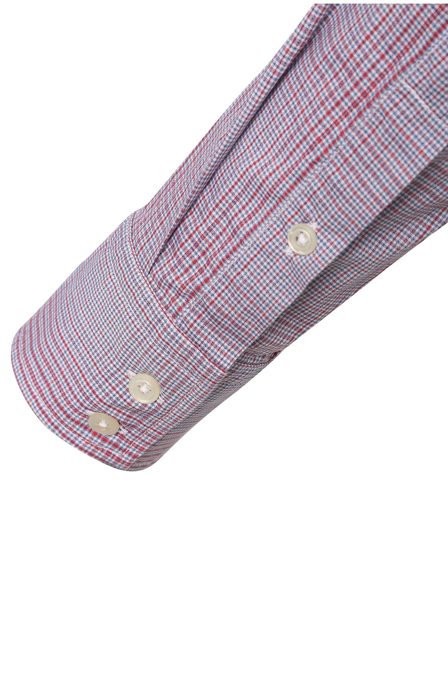 Regular-Fit Baumwollhemd mit individuellem Karo-Muster: ´CieloebuE`