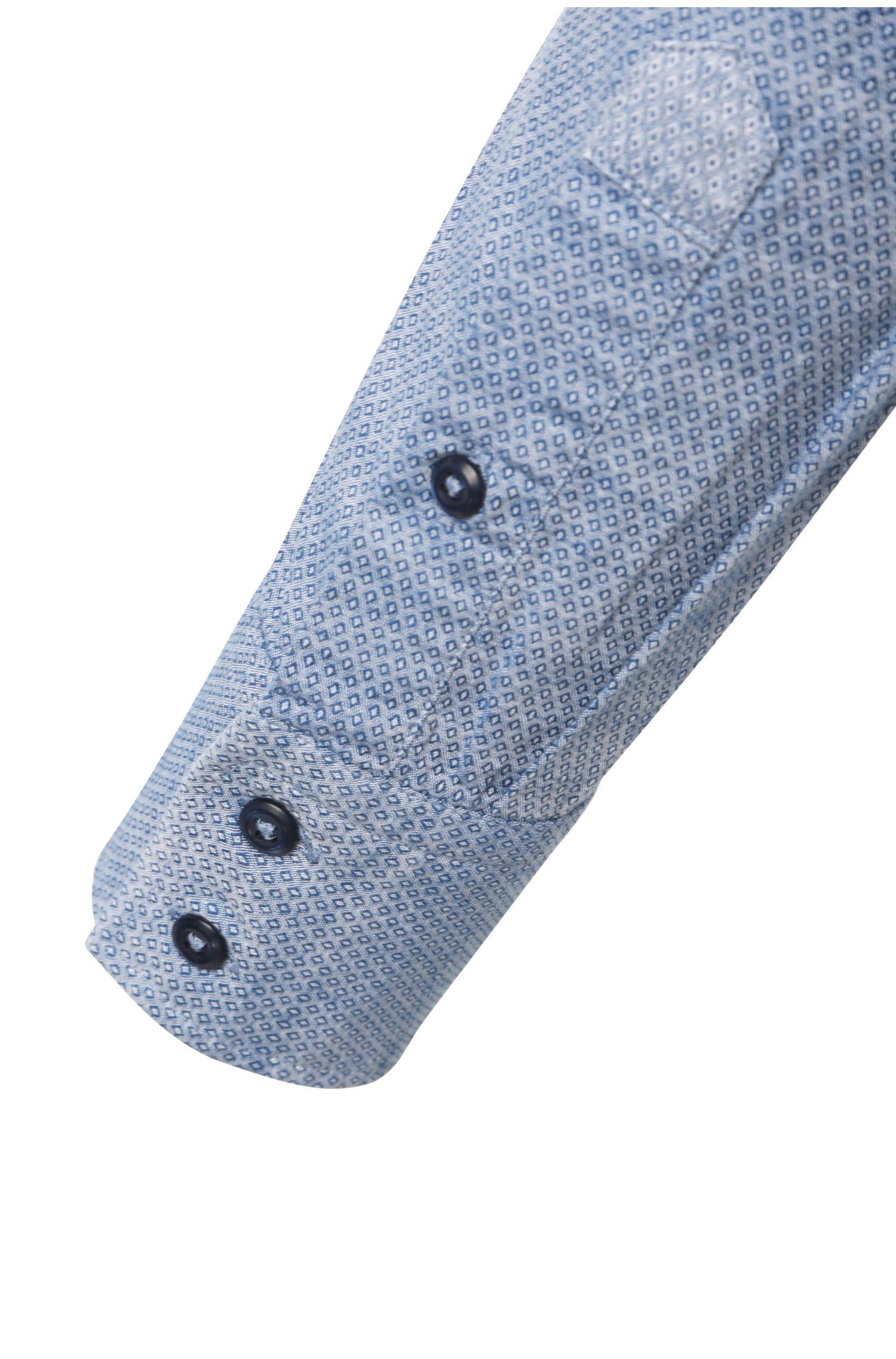 Slim-Fit Baumwollhemd mit Rautenmuster: ´EslimE`
