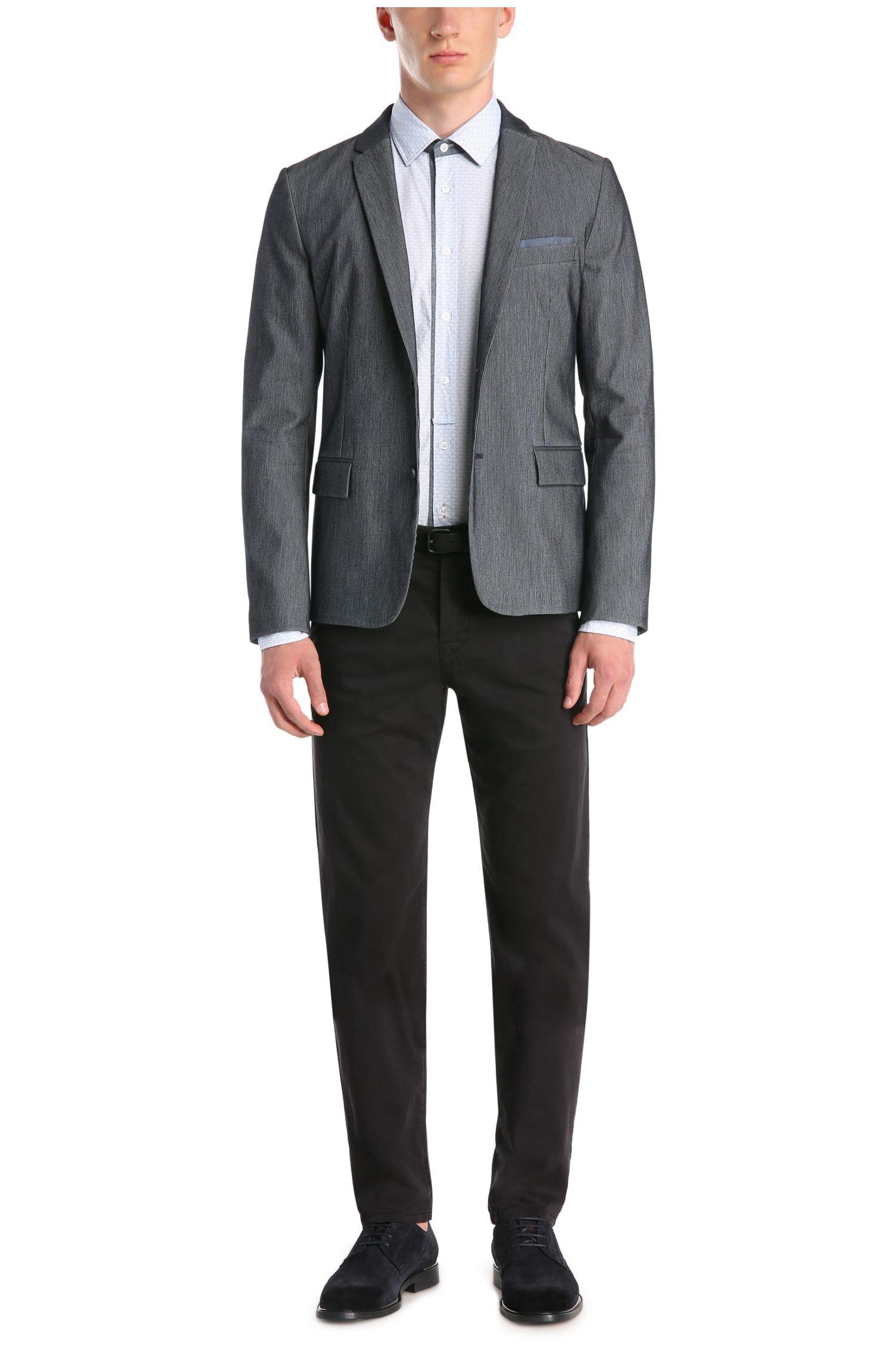 Slim-Fit Baumwollhemd mit maritimem Muster: ´EslimE`