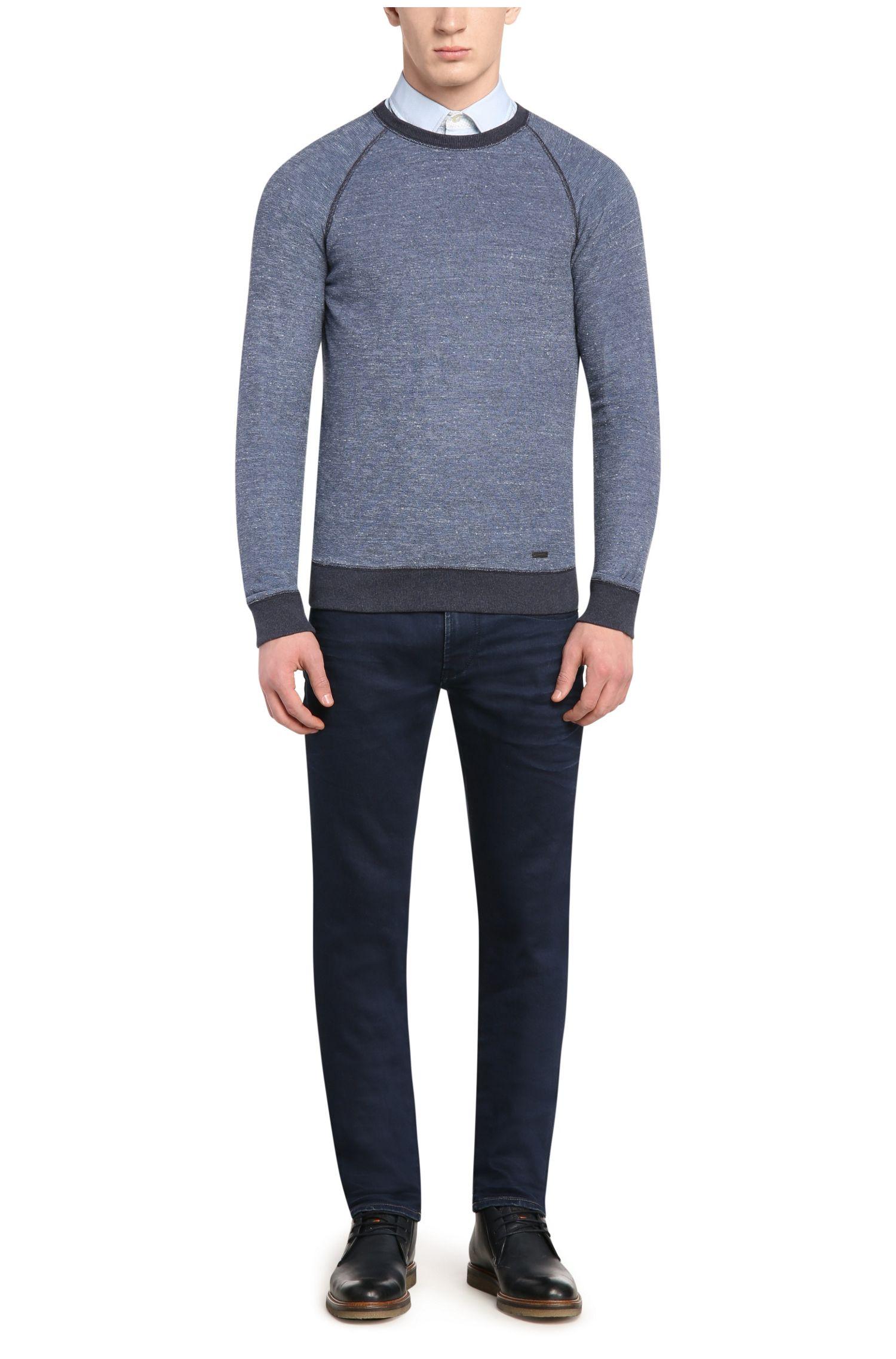 Fein texturiertes Slim-Fit Hemd aus Baumwolle: ´EslimE`