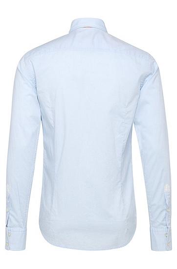 Fein texturiertes Slim-Fit Hemd aus Baumwolle: ´EslimE`, Hellblau