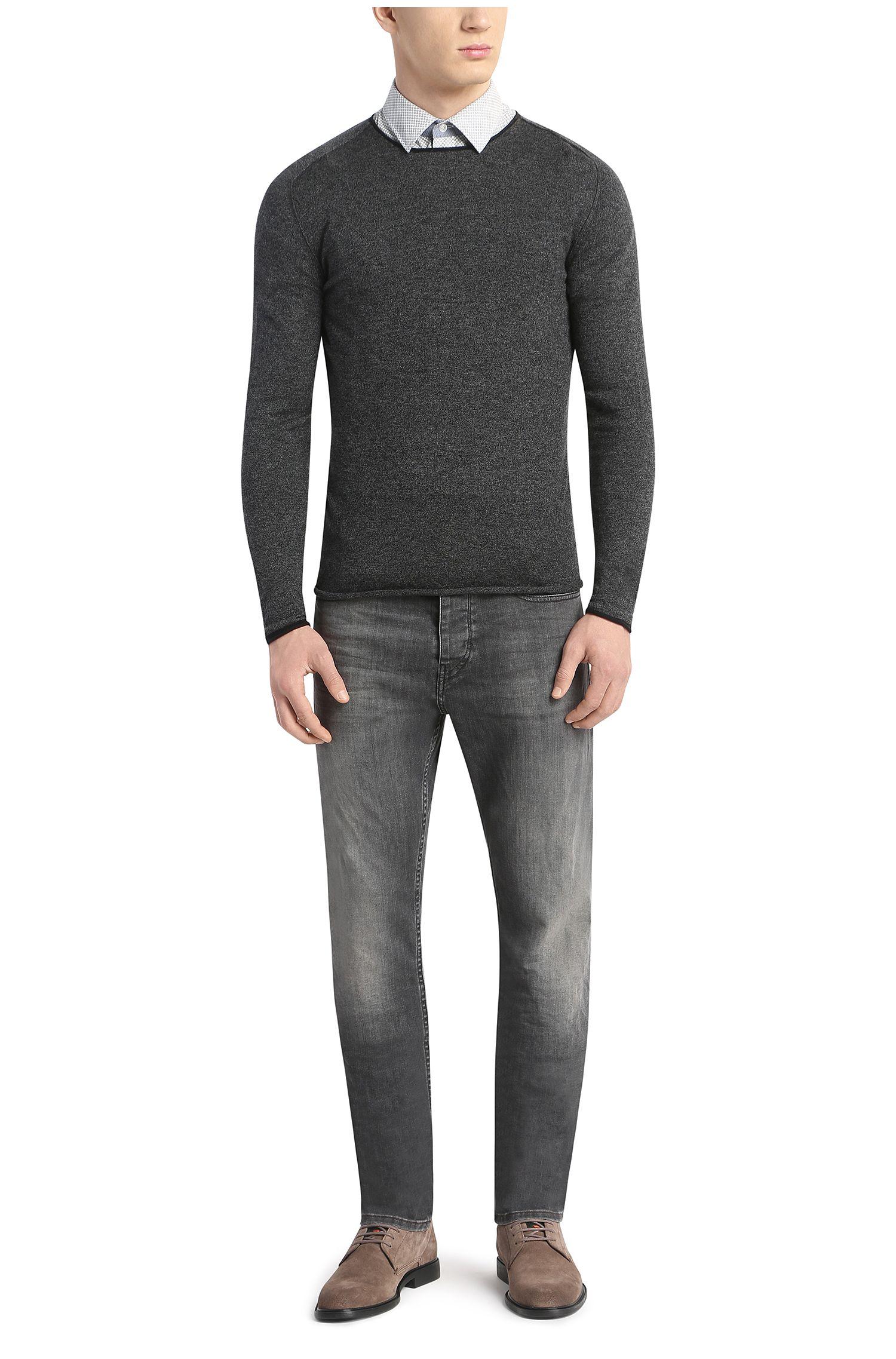 Slim-fit overhemd van katoen met korte mouwen: 'EslimyE'