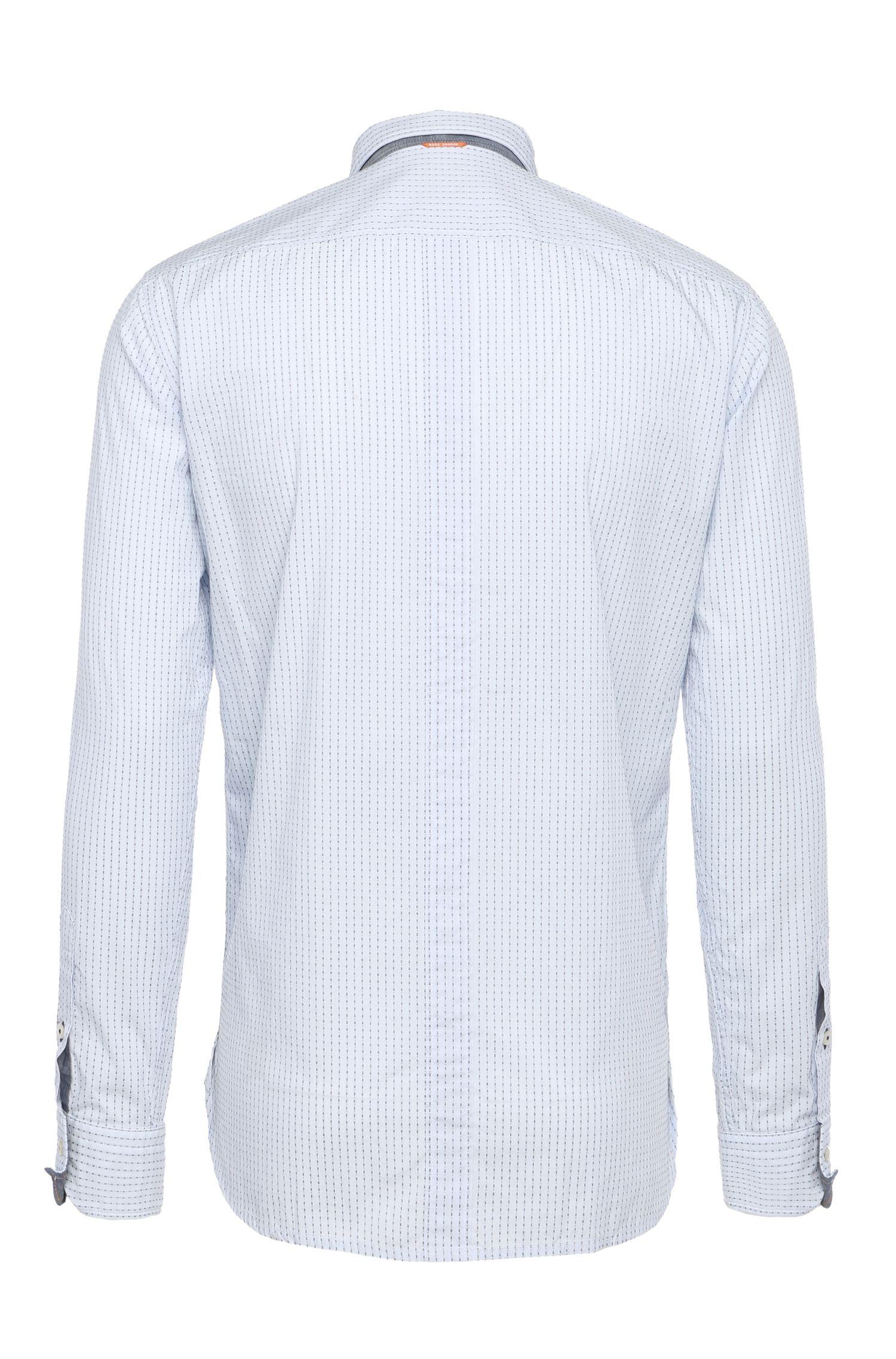 Chemise en coton Regular Fit à rayures dotée d'un col amovible: «EdeepE»