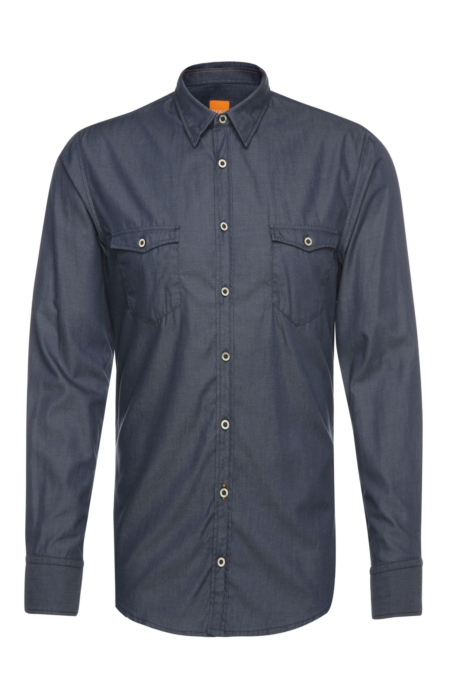 Slim-Fit Hemd aus leichter Baumwolle: ´EdoslimE`