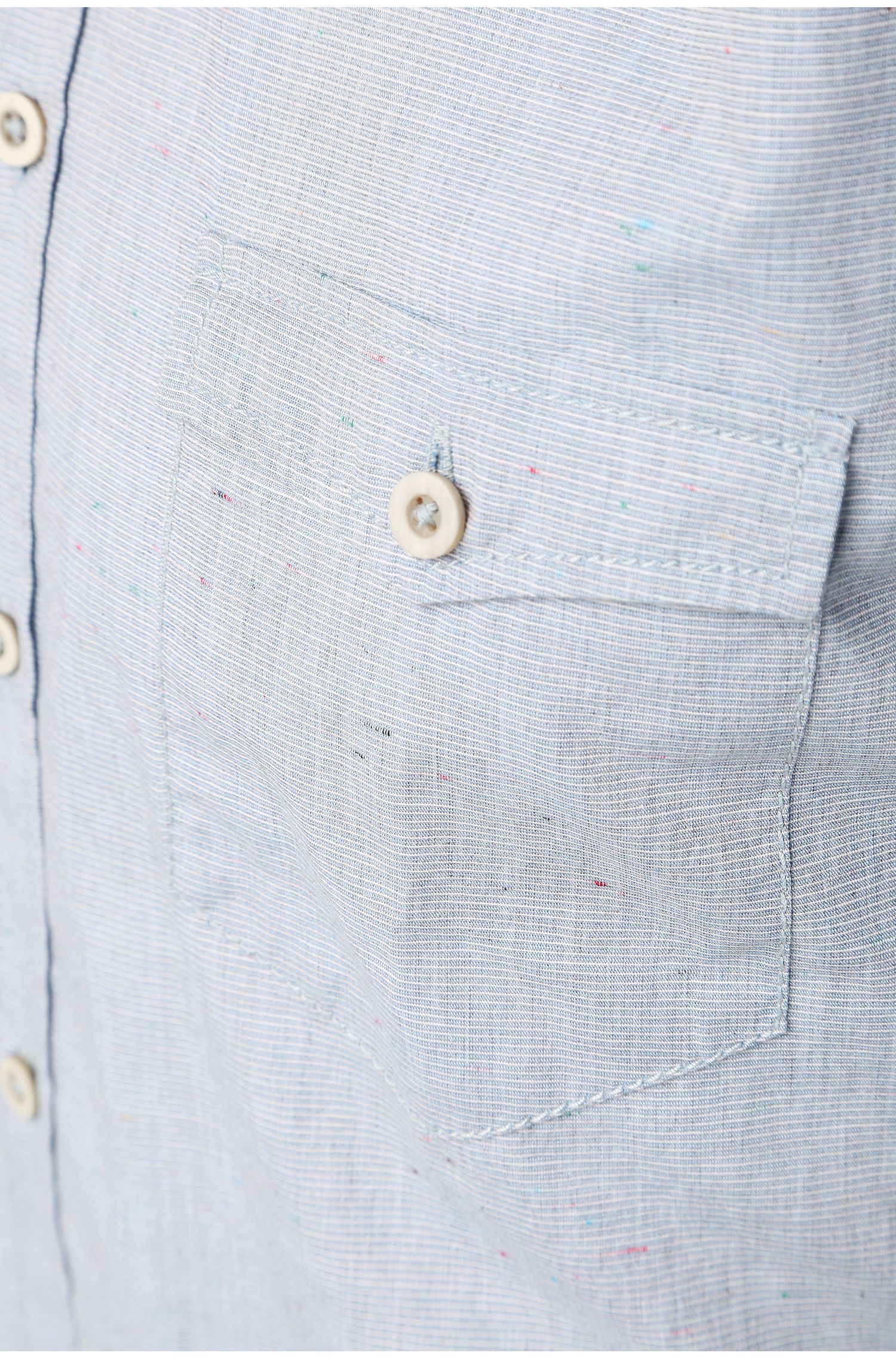 Chemise Slim Fit finement rayée, en coton mélangé: «EdoslimE»