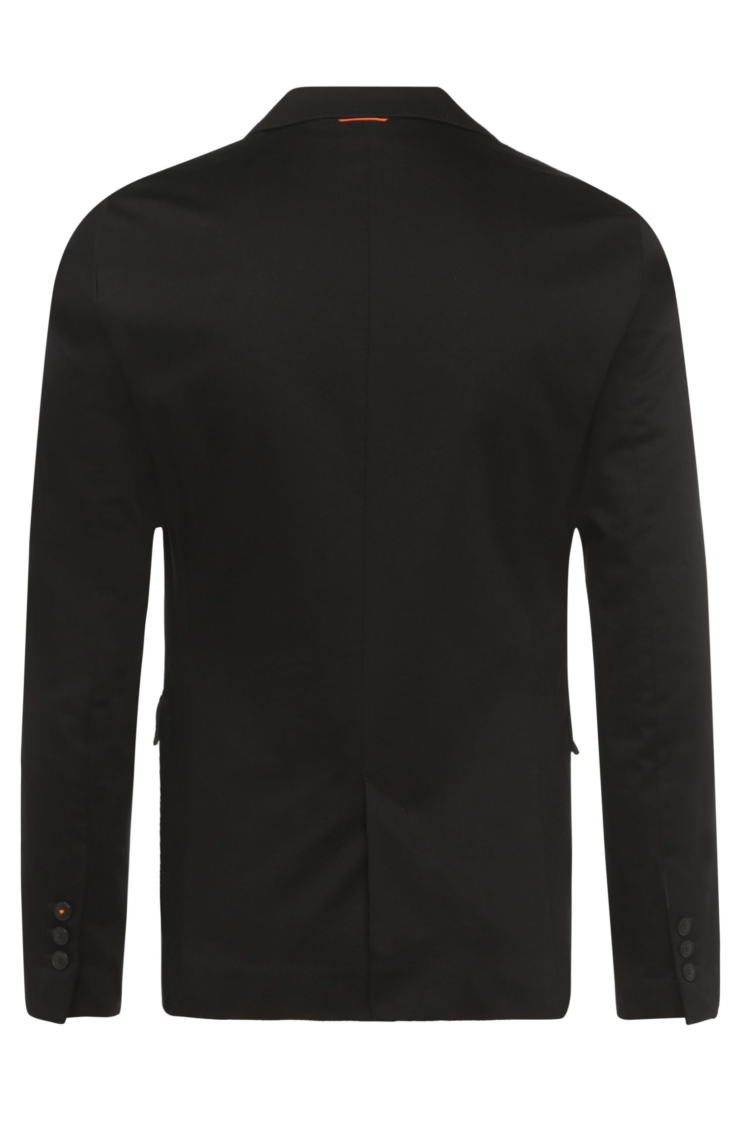 Veste de costume Slim Fit en coton extensible : « Blaek »