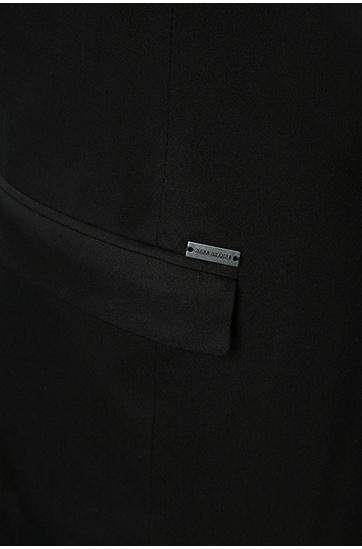 Slim-Fit Sakko aus elastischer Baumwolle: ´Blaek`, Schwarz