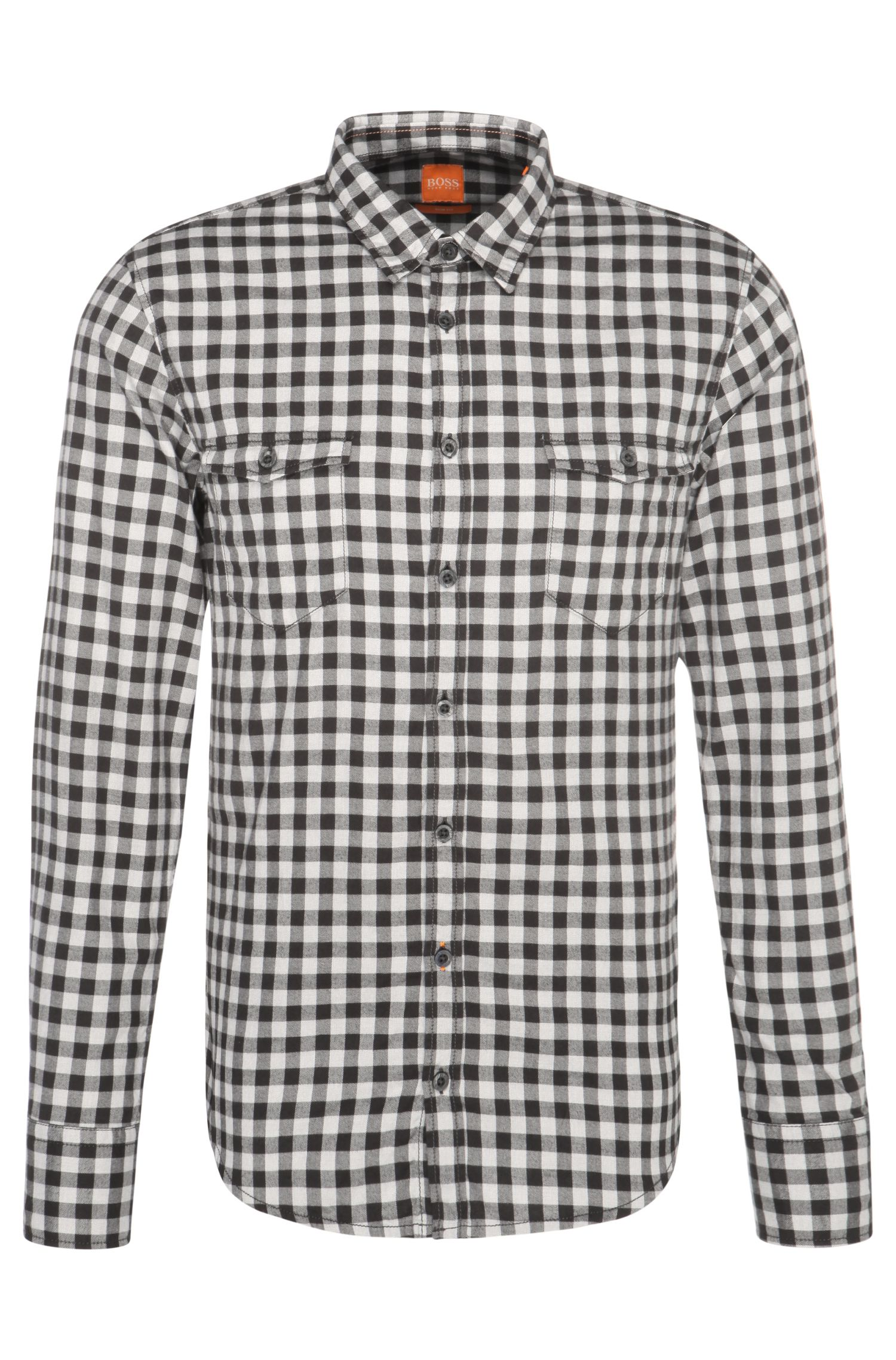Checked slim-fit shirt in cotton: 'EdoslimE'