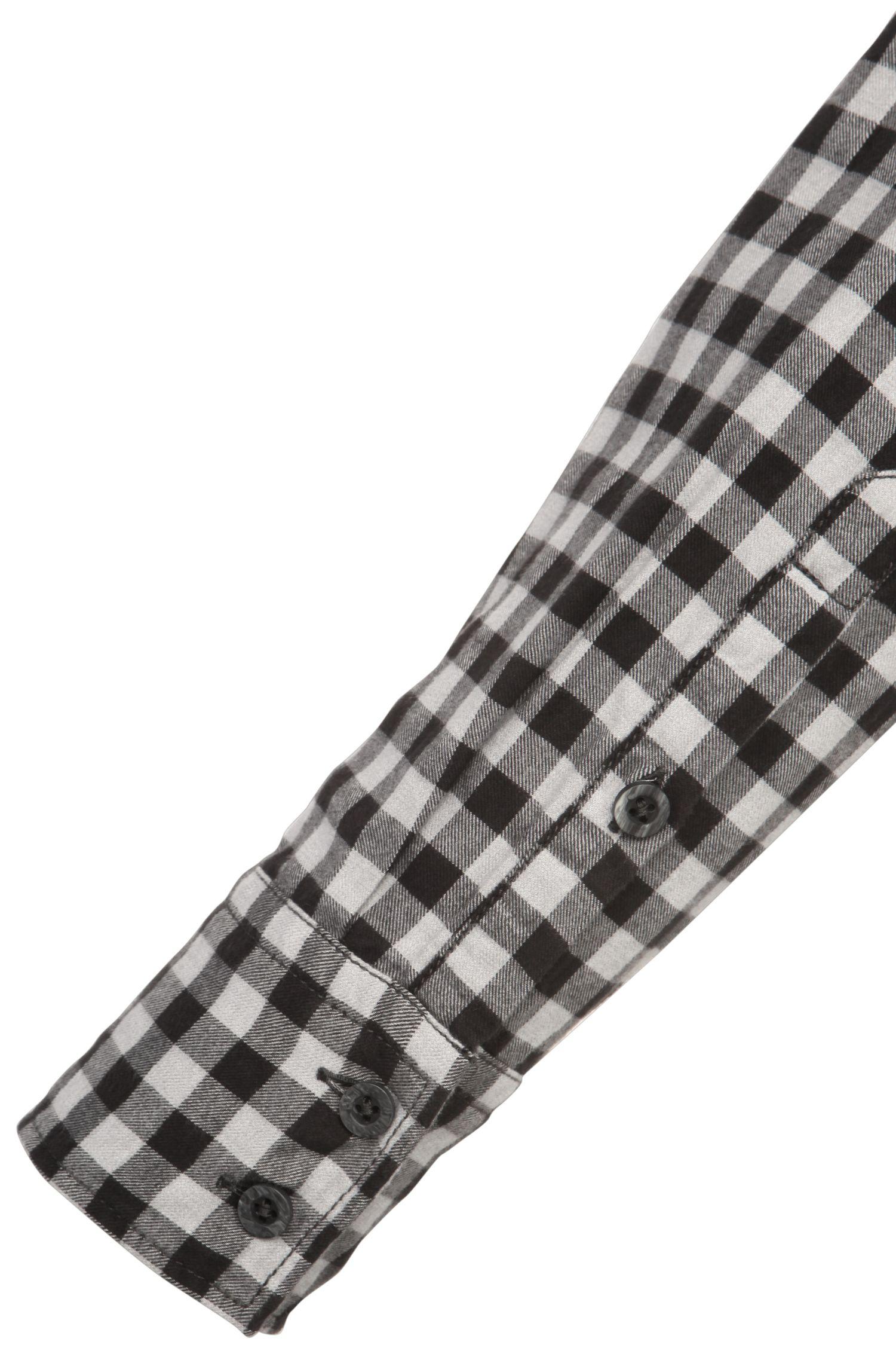 Geruit slim-fit overhemd van katoen: 'EdoslimE'