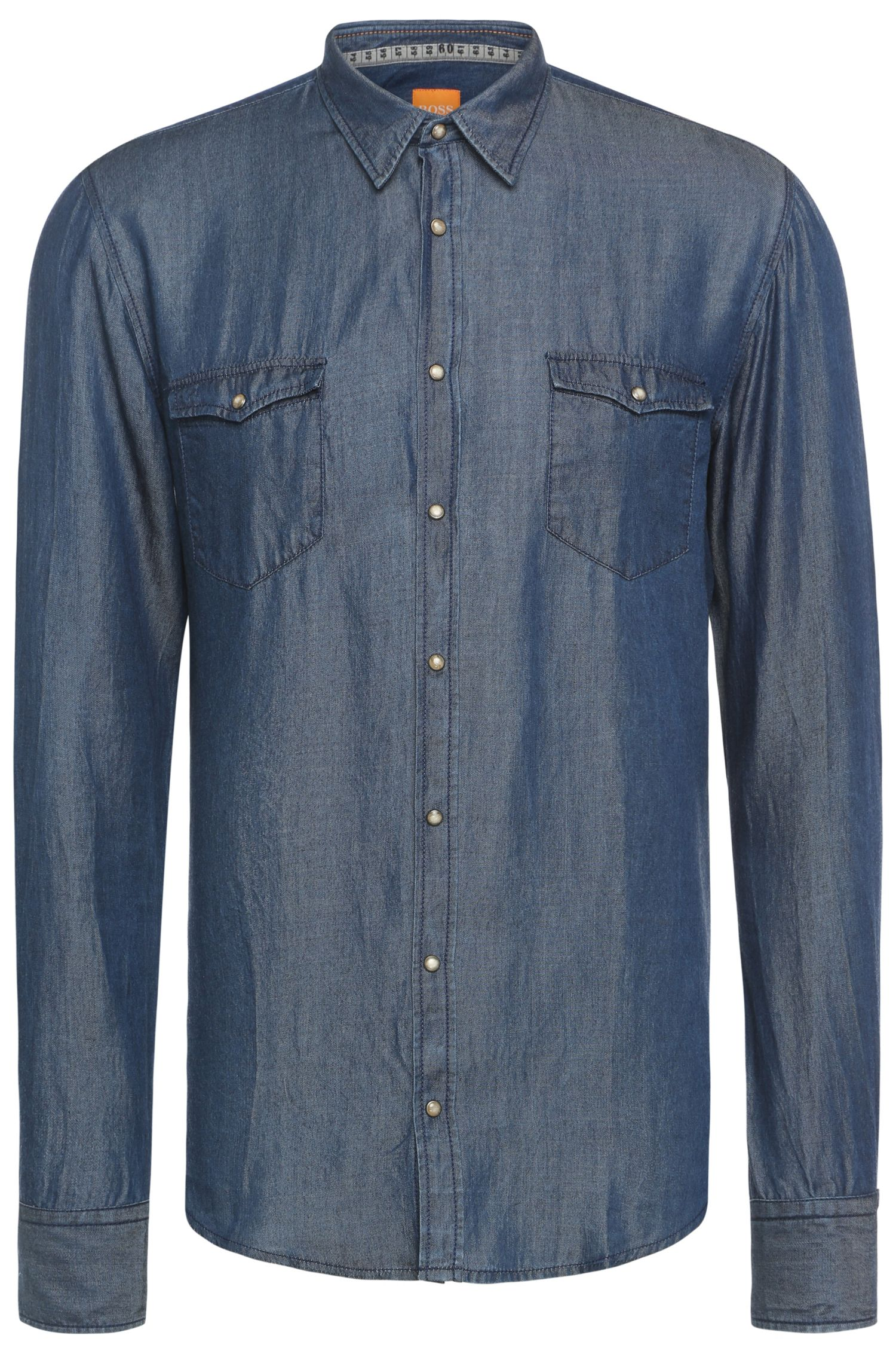 Slim-Fit Hemd in Denim-Optik: ´EdoslimE`