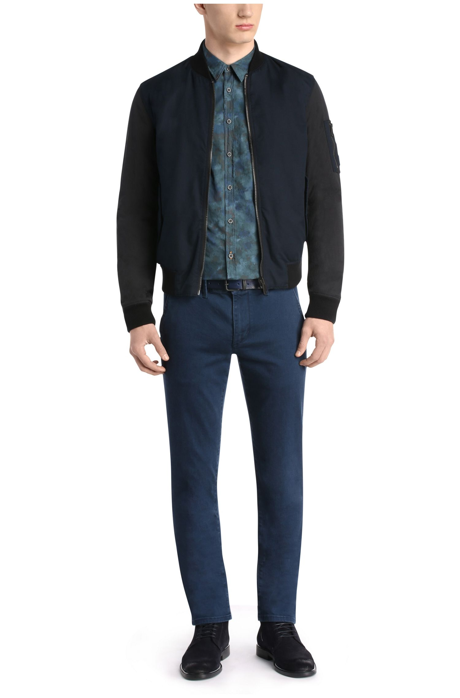 Slim-Fit Hemd aus Baumwolle in Camouflage-Optik: ´EdoslimE`