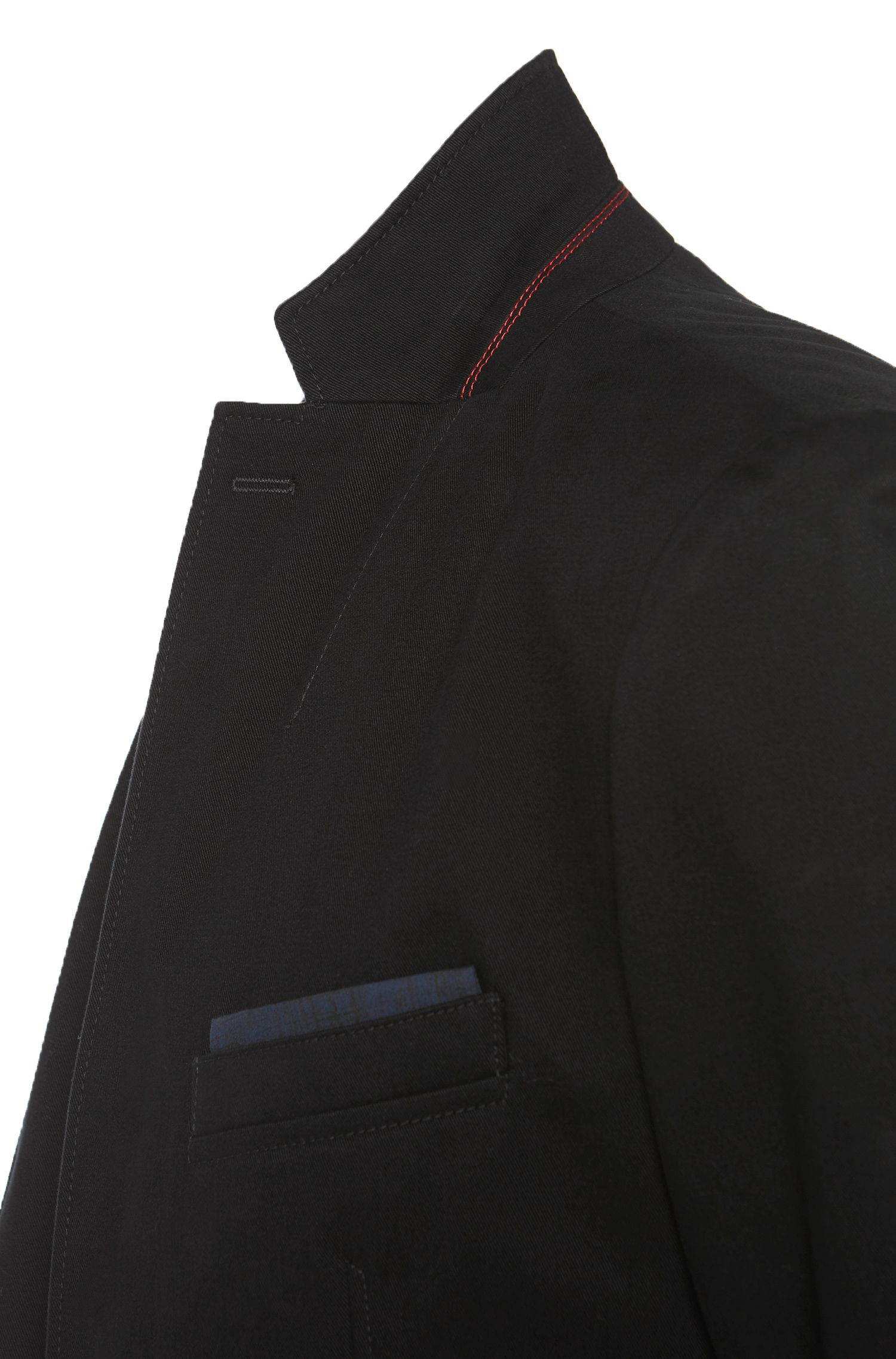 Regular-Fit Sakko aus Baumwolle mit angedeuteten Ellenbogen-Patches: 'Ariton'