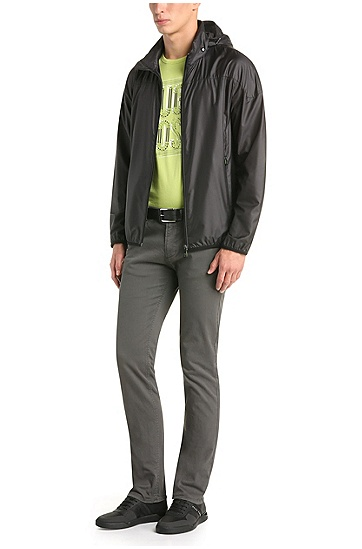 Outerwear bomber-style jacket: 'Jiano', Black