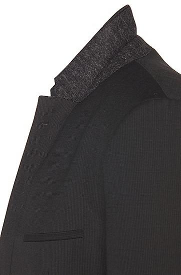 Fein gestreifter Slim-Fit Anzug aus Schurwolle: 'Arti1/Heilon', Anthrazit