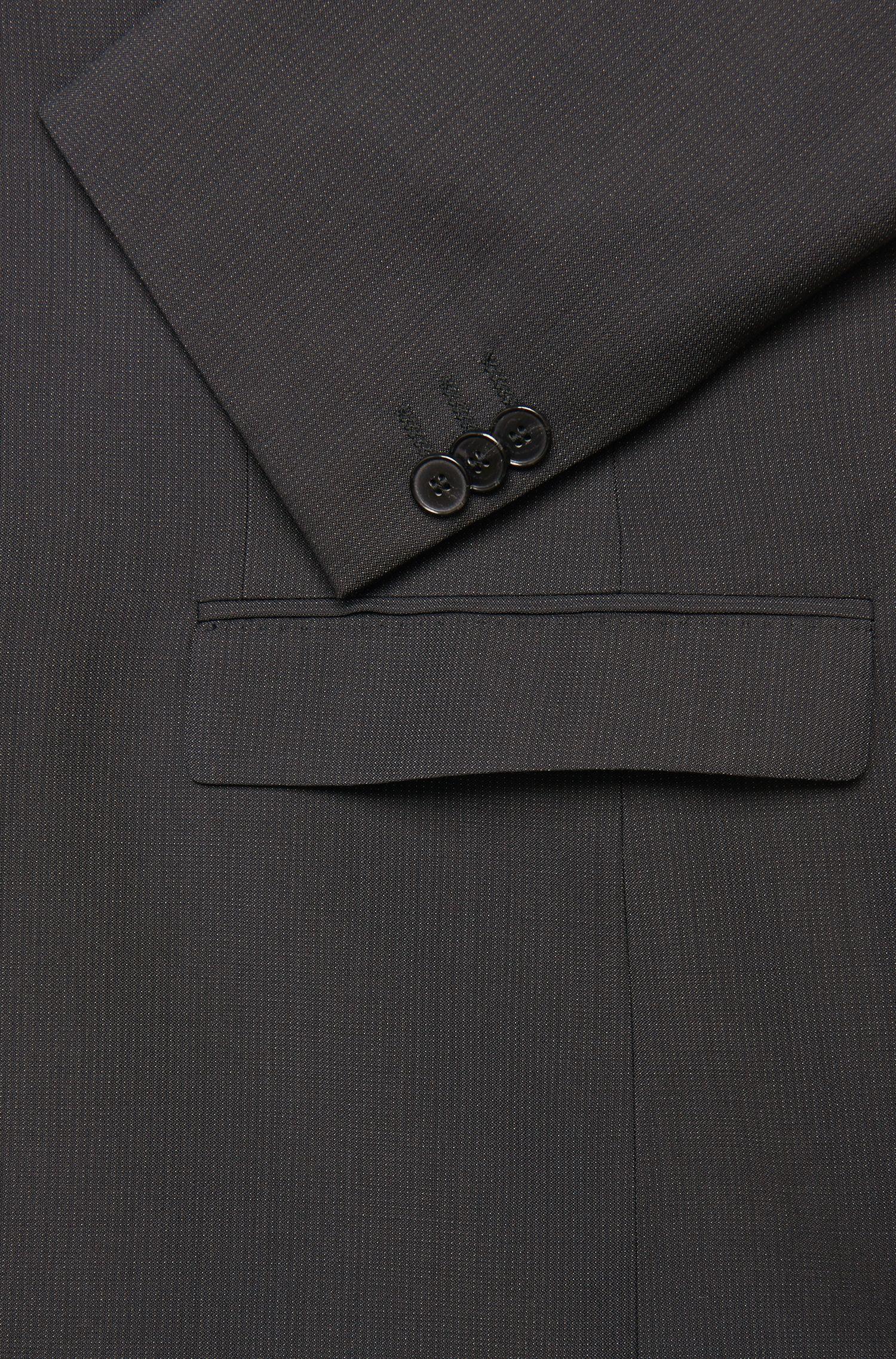 Fein gestreifter Slim-Fit Anzug aus Schurwolle: 'Arti1/Heilon'