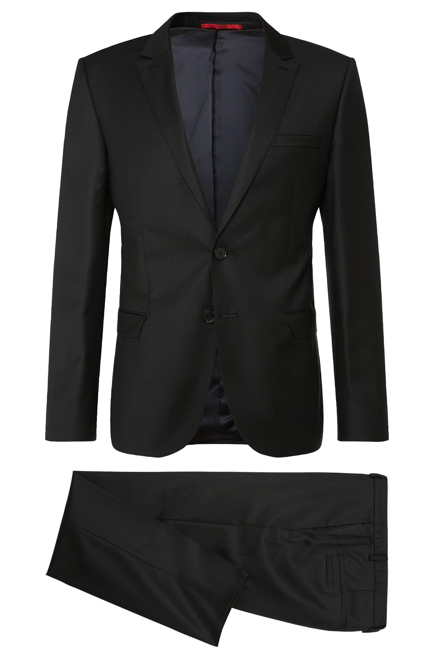 Slim-fit suit in new-wool blend with silk: 'Adan/Hallins'