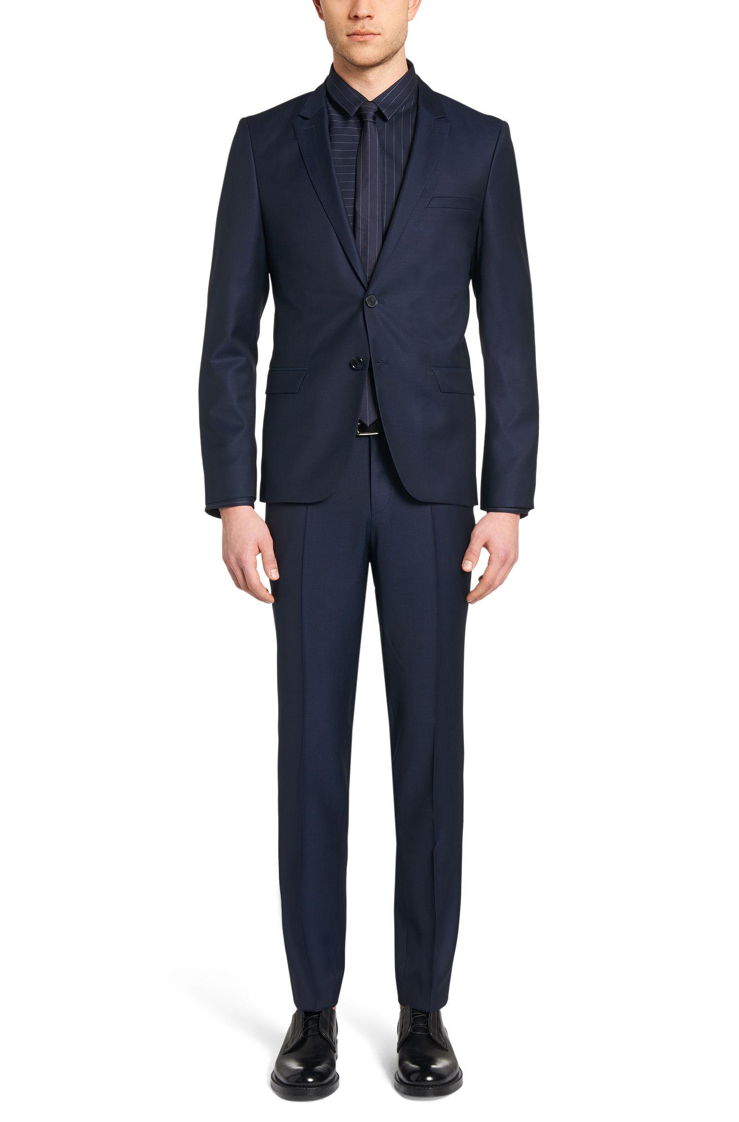 Slim-Fit Anzug aus Schurwoll-Mix mit Seiden-Anteil: 'Adan/Hallins'