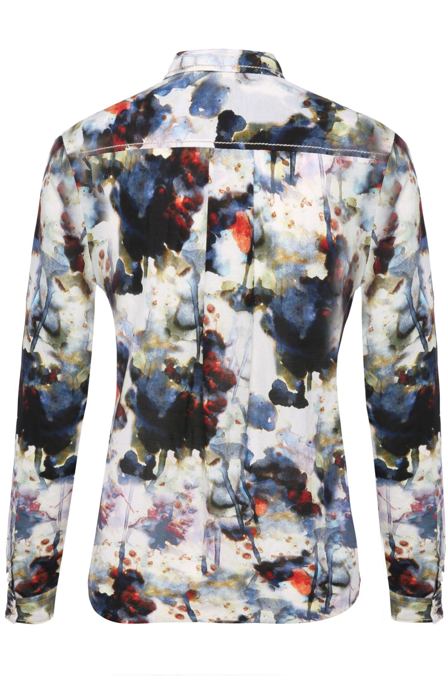 Gemusterte Bluse aus Baumwoll-Mix mit Seide: ´Emai_4`