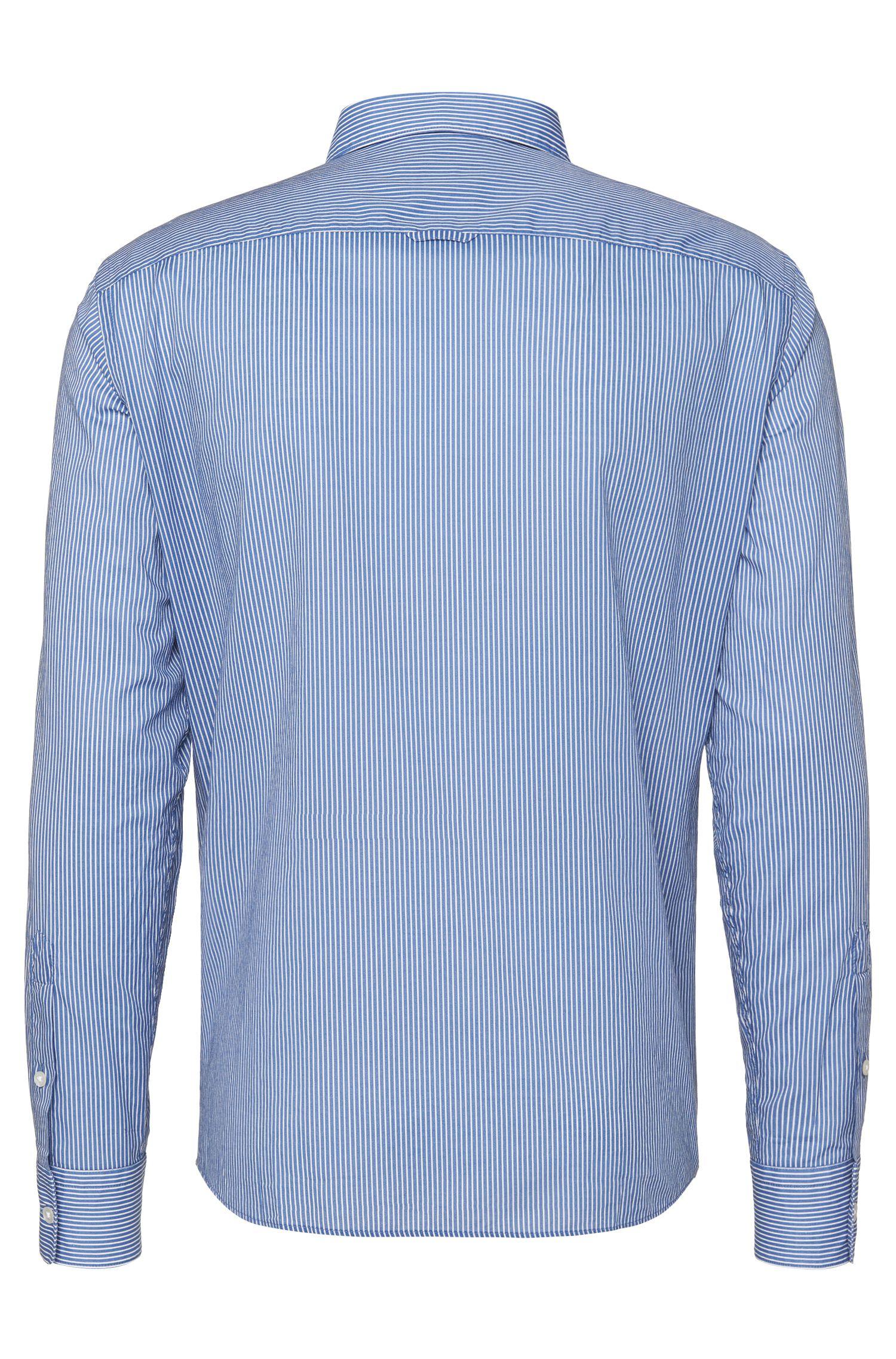 Chemise Slim Fit à rayures, en coton: «Reid»