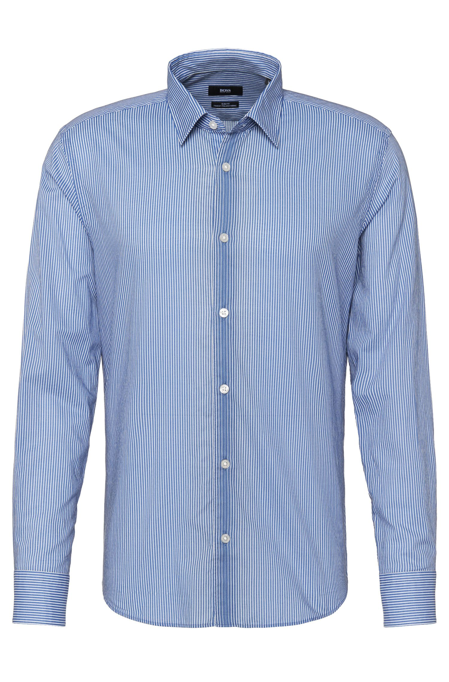 Camisa de rayas slim fit en algodón: 'Reid'