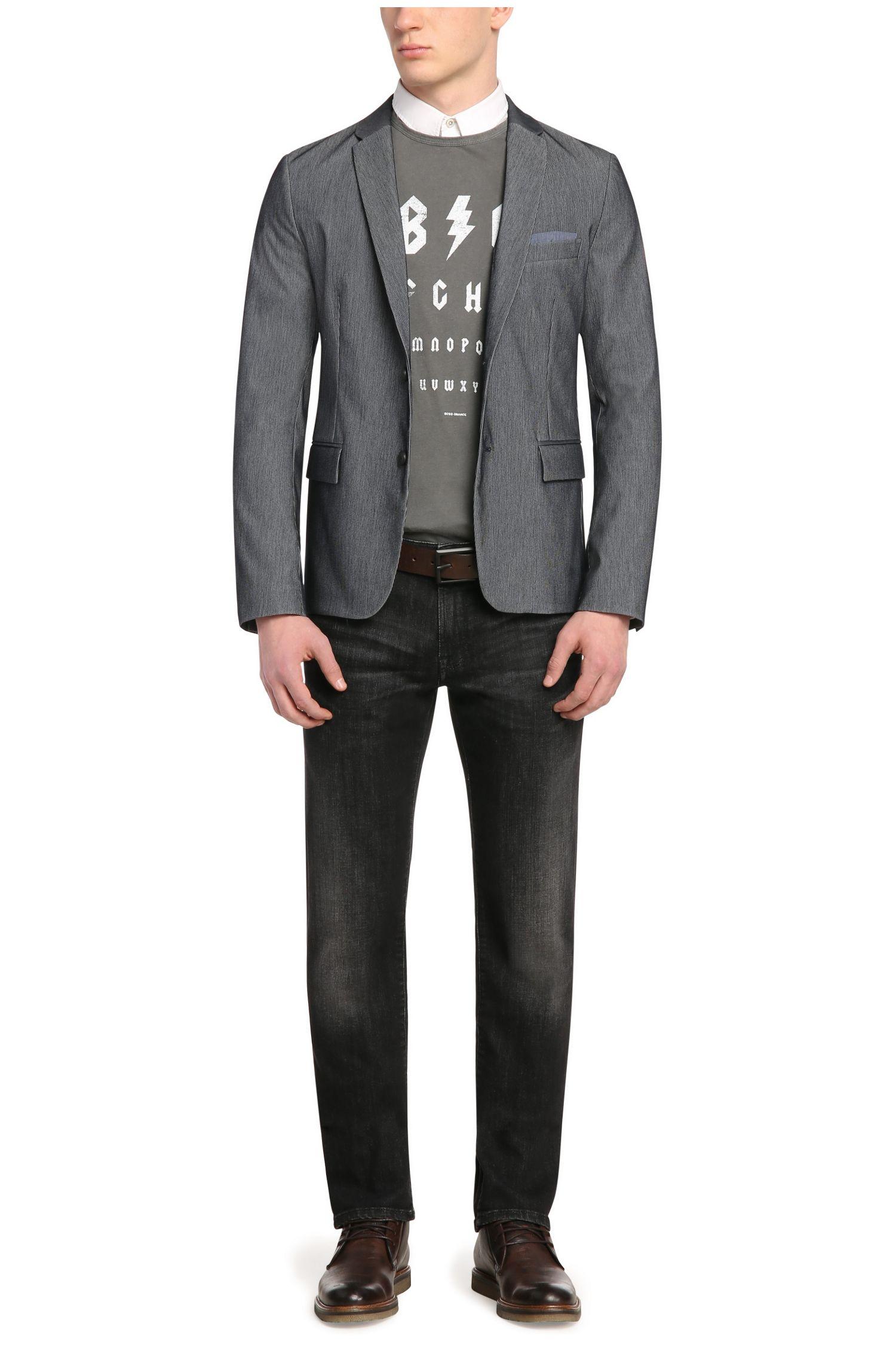 Veste de costume Slim Fit en coton mélangé extensible: «Benestretch4»