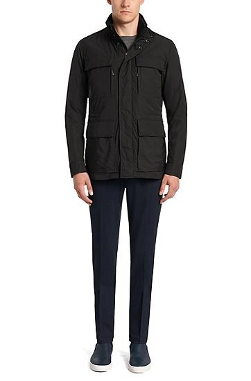 Wasserabweisende Jacke mit herausnehmbarem Futter: 'Casven', Schwarz