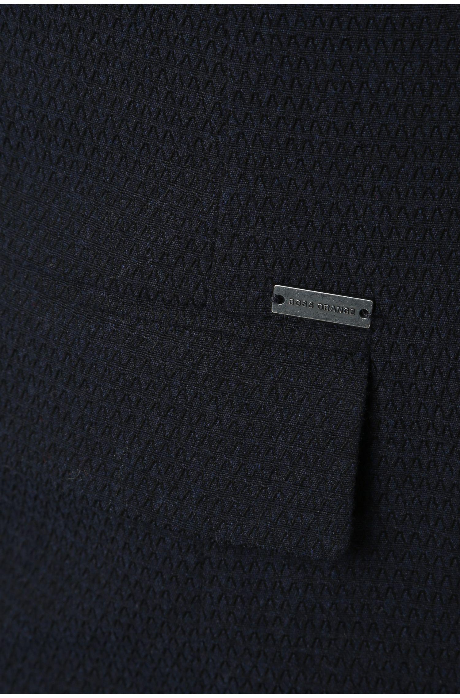 Slim-Fit Sakko aus texturiertem Baumwoll-Mix mit Wolle: ´Bistick`