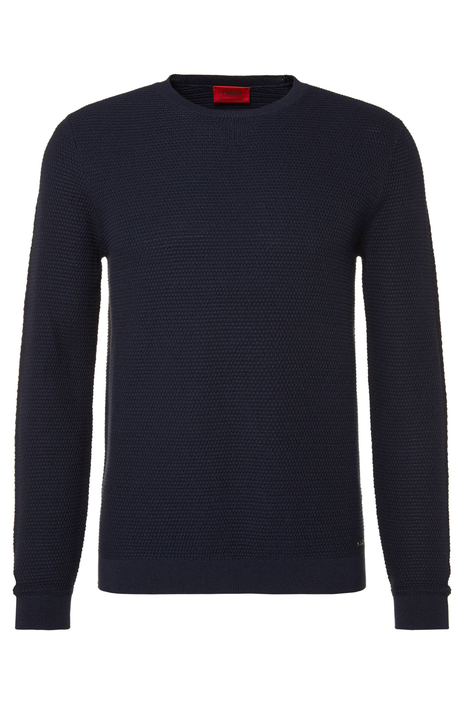 Loosely fitting sweater in cotton blend with silk and cashmere: 'Sorito'