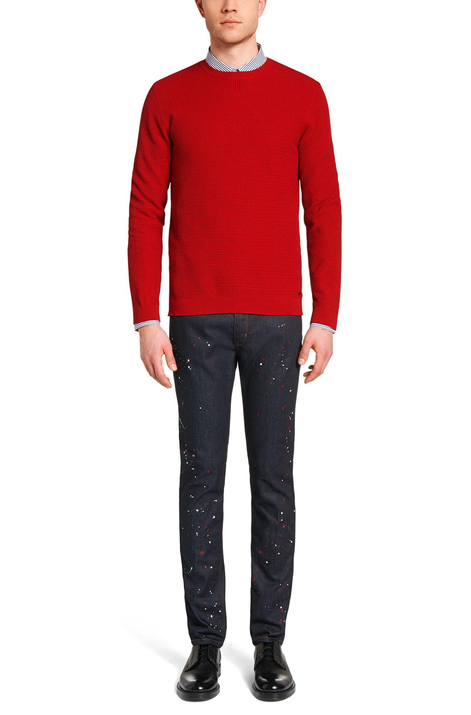 Maglione loose fit in misto cotone con percentuali di seta e cashmere: 'Sorito'