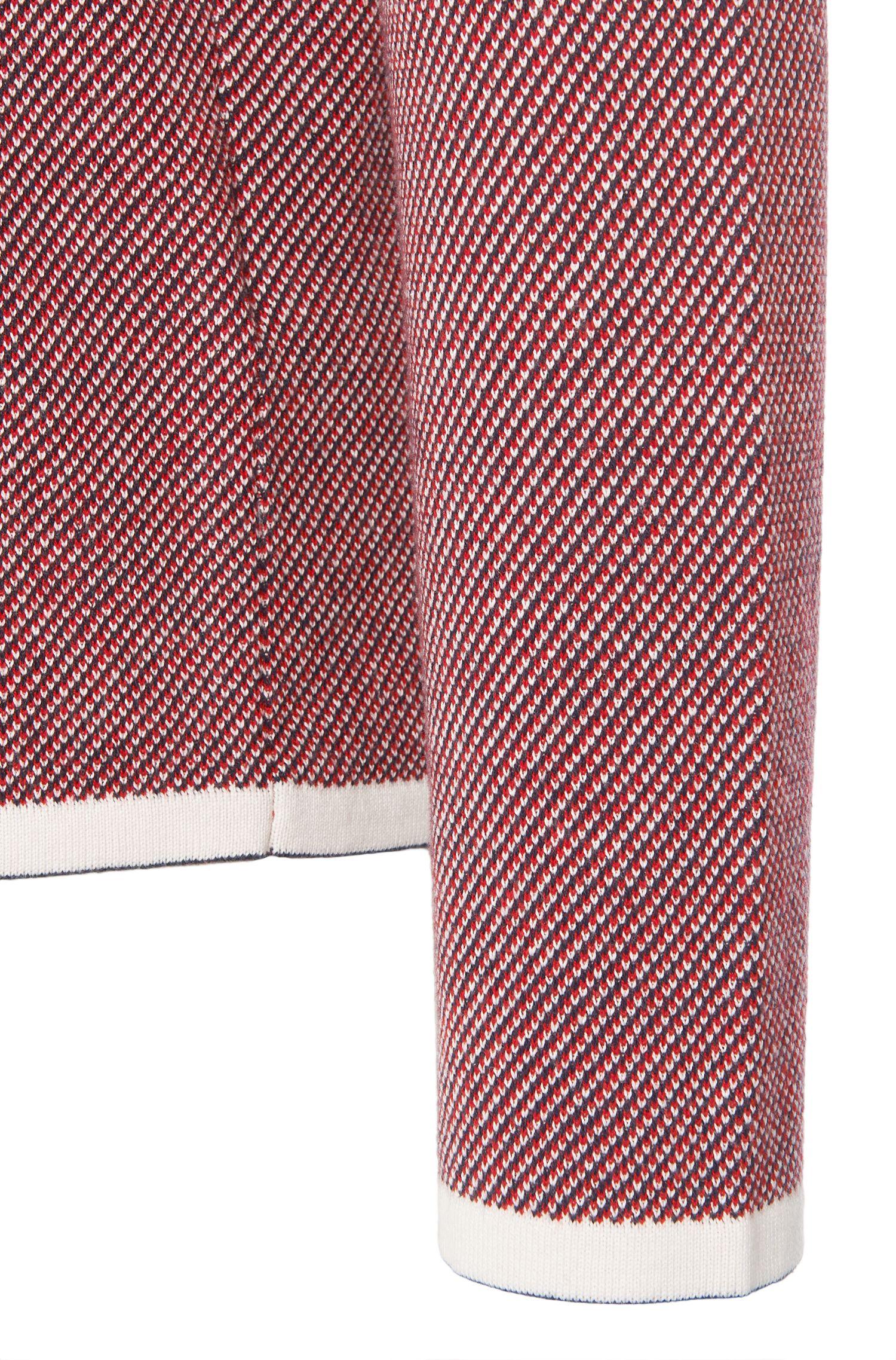 Gemusterter Comfort-Fit Pullover aus hochwertigem Baumwoll-Mix: 'Stip'
