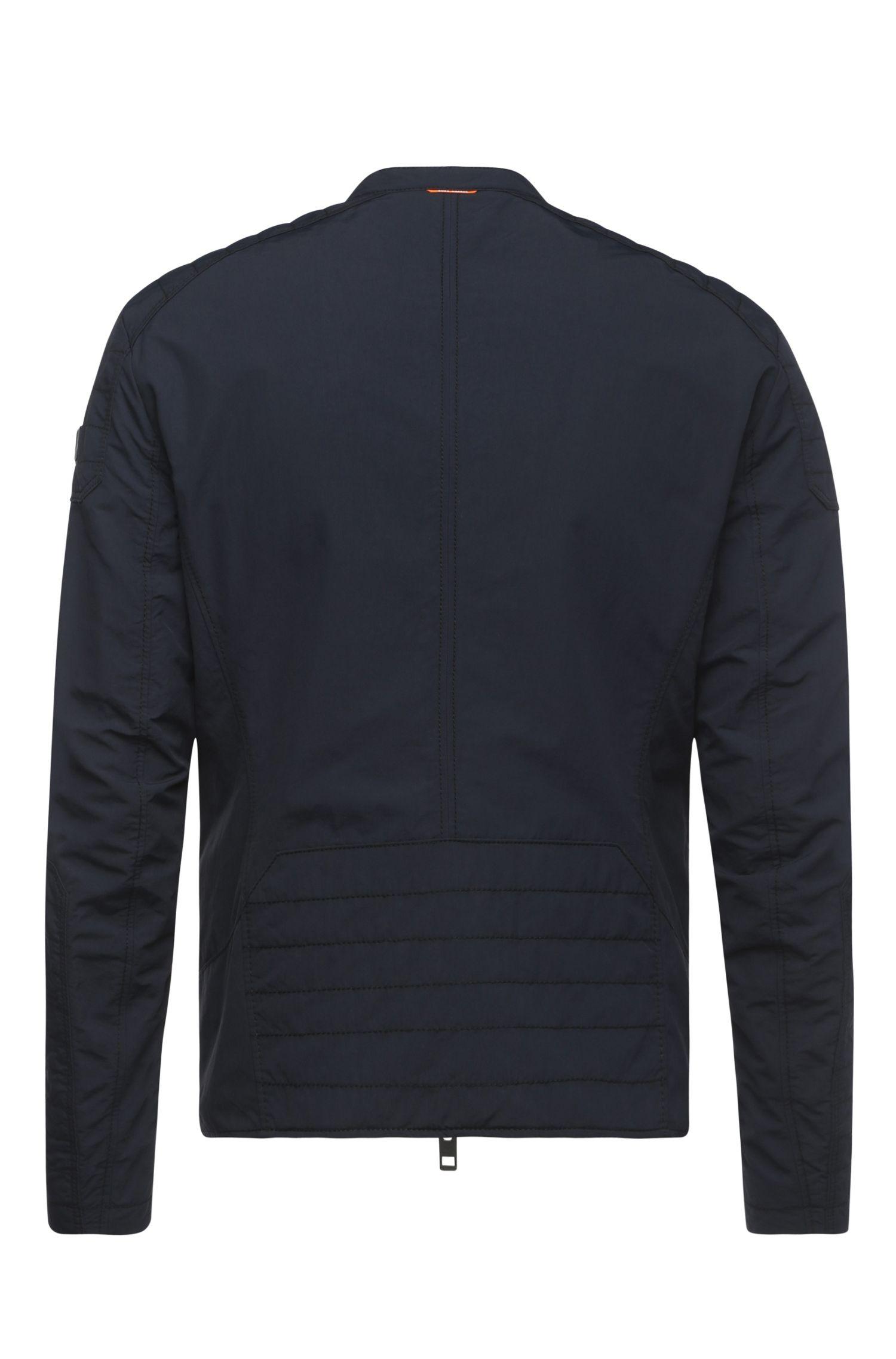 Slim-Fit Biker-Jacke aus texturiertem Material-Mix: ´Ofynn-W`