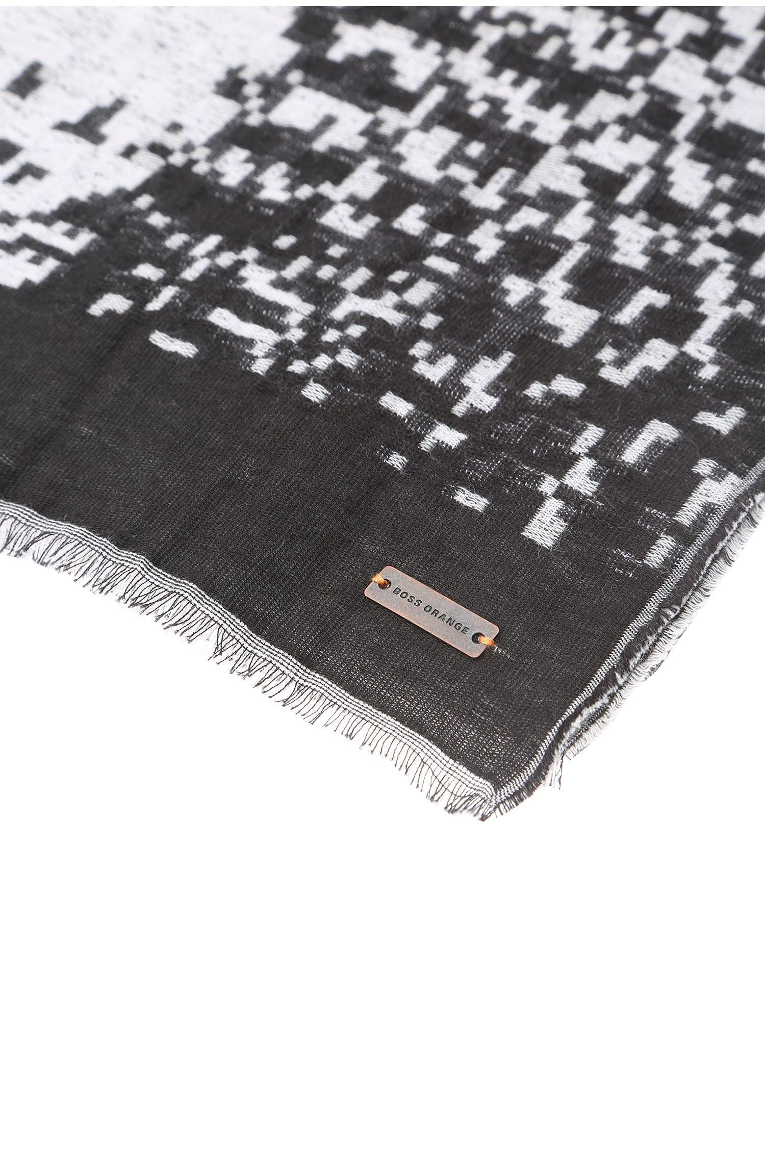 Écharpe en tissu de coton au motif original: «Naoki»