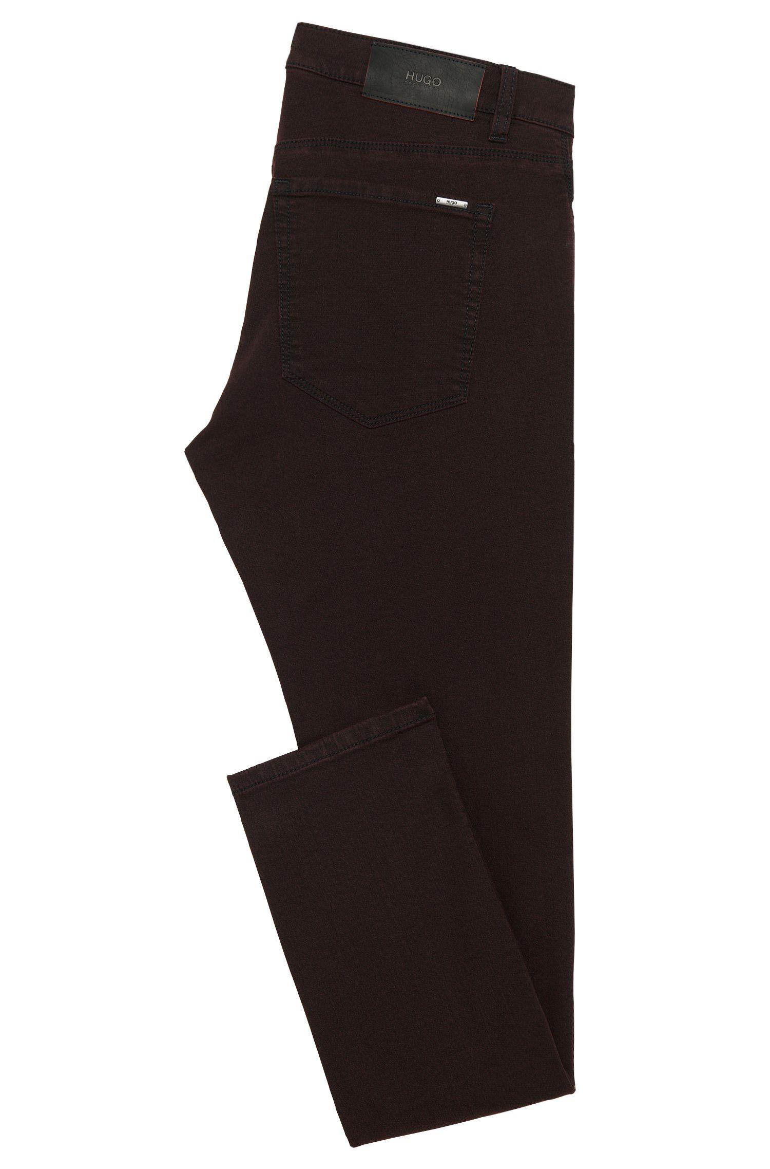 Jeans Slim Fit à motif, en coton mélangé extensible: «HUGO734»