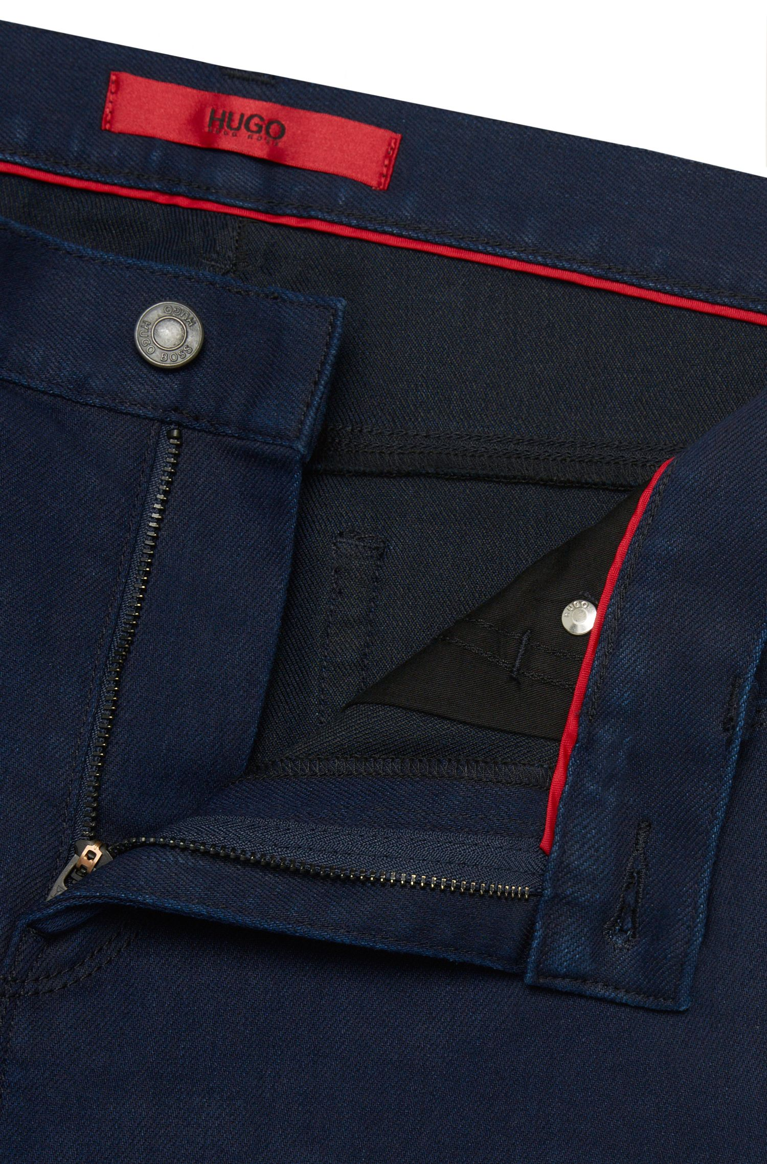 Slim-Fit Jeans aus elastischem Baumwoll-Mix: 'HUGO 708'