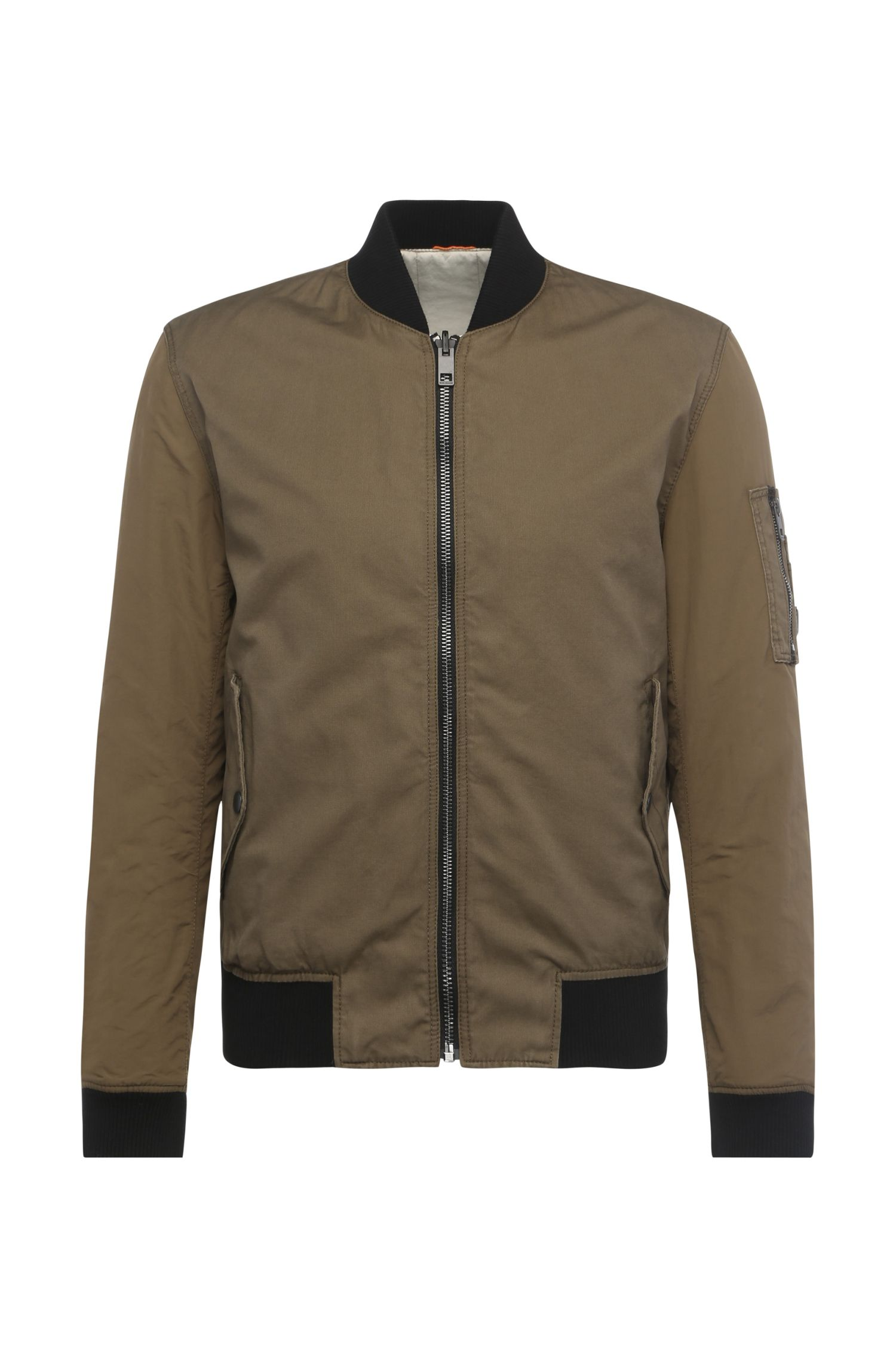 Bomber jacket in smooth fabric blend: 'Odorian-W'
