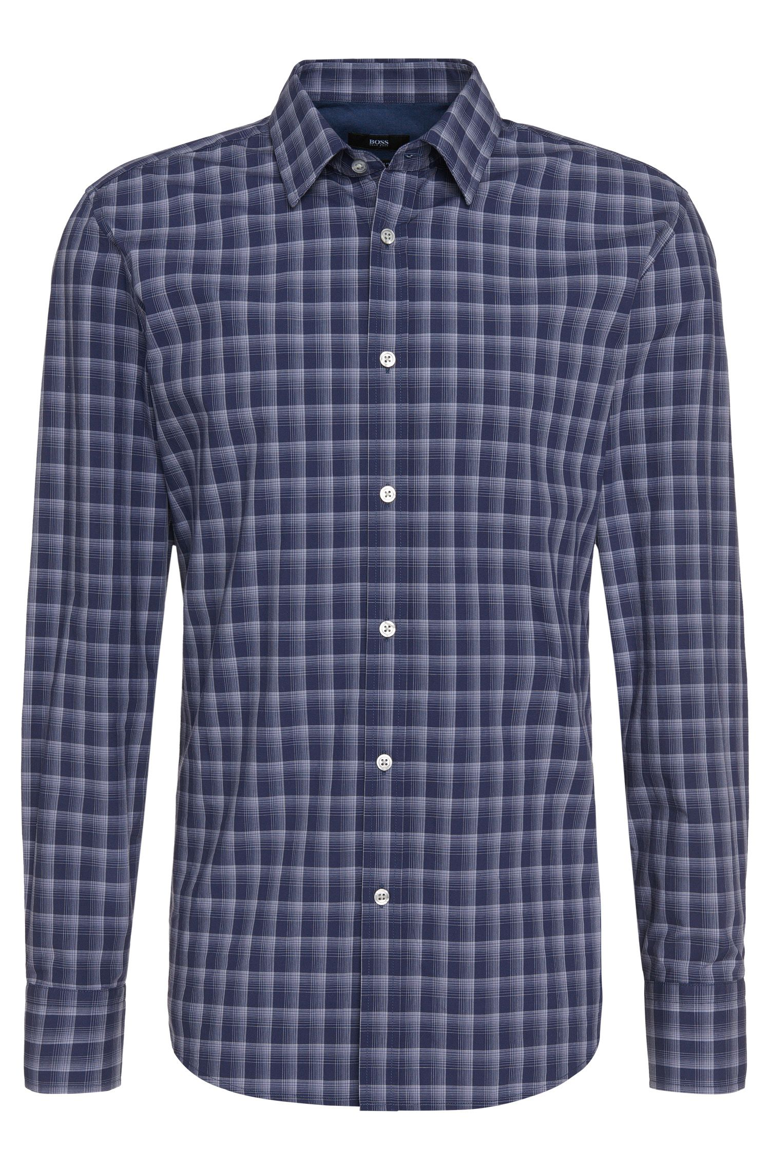 Checked regular-fit cotton shirt: 'Lukas_5'