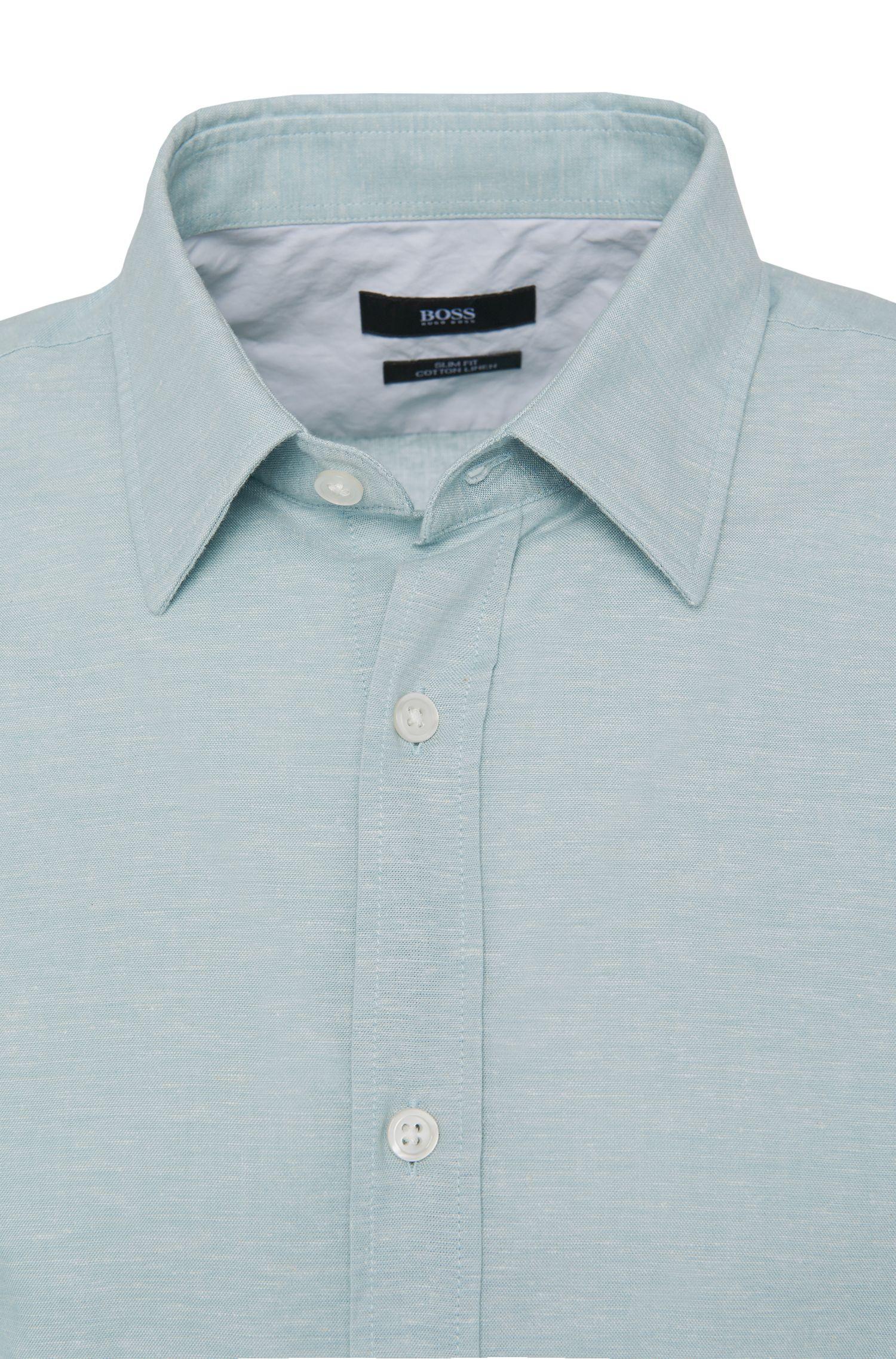 Slim-fit overhemd van een katoenmix: 'Ronni_5'