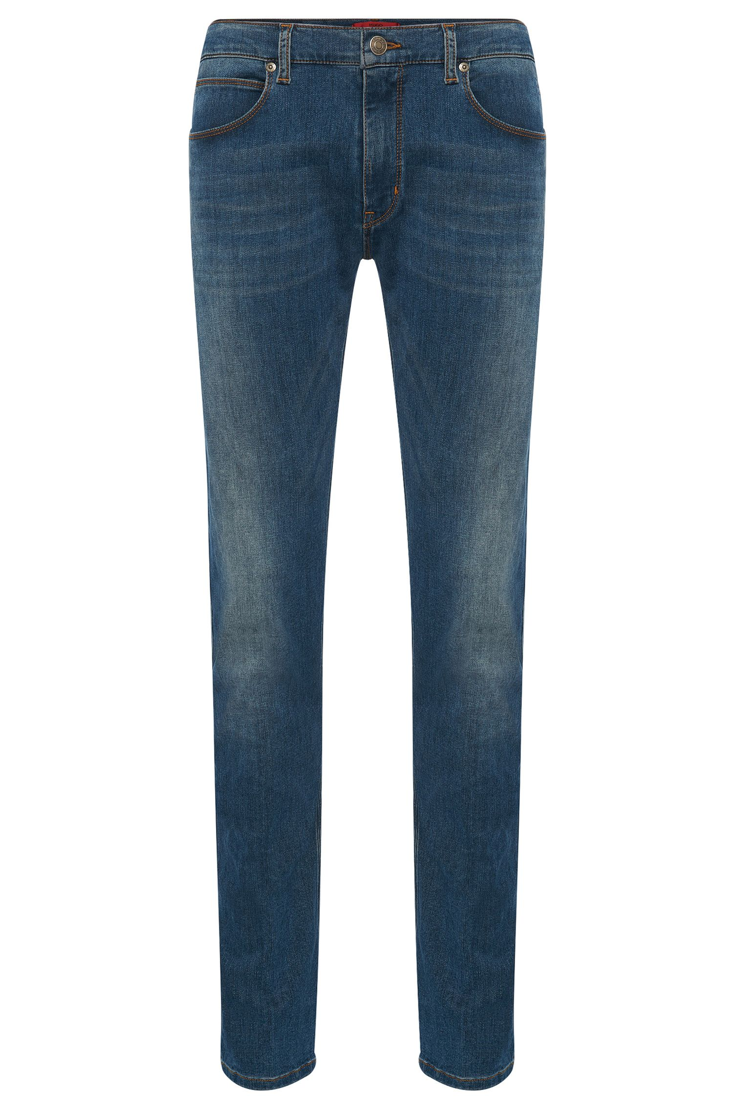 Slim-fit jeans in stretch cotton blend: 'HUGO 708'