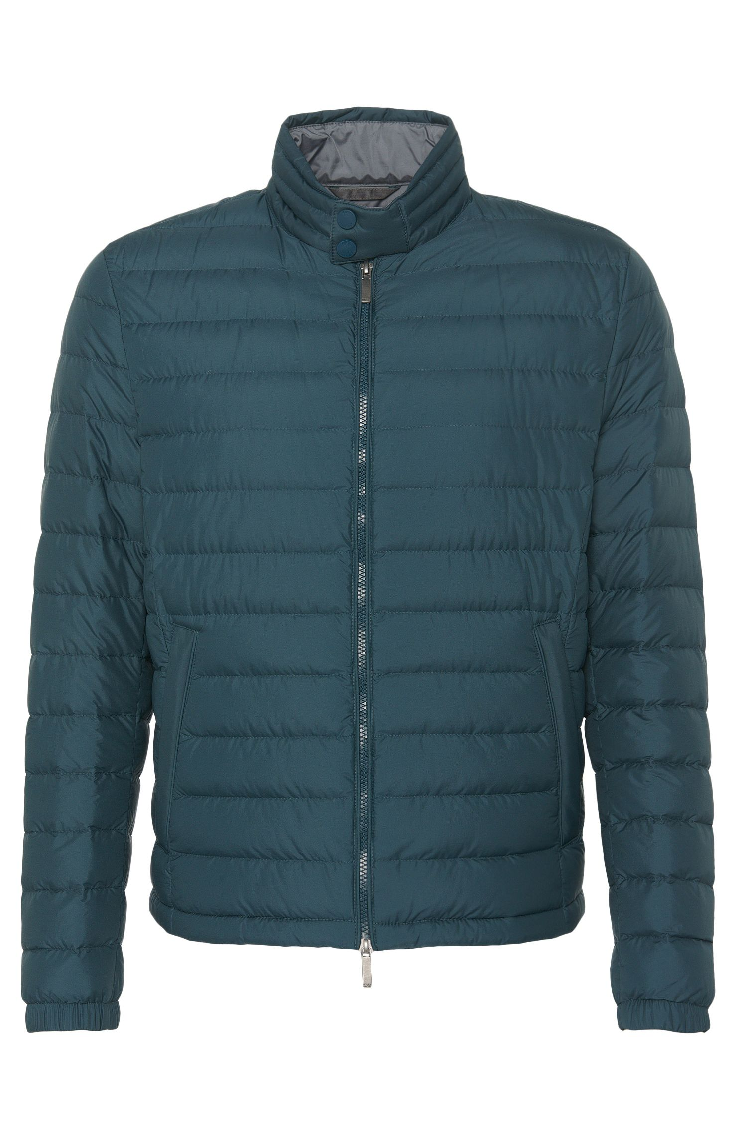 Water-repellent down jacket with band collar: 'Daniell2'
