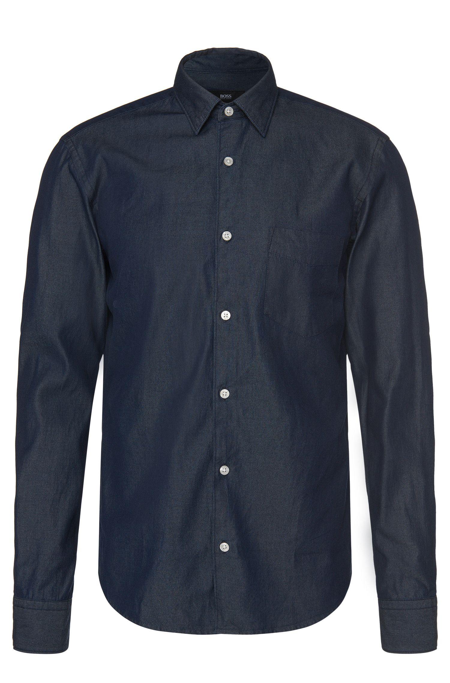 Slim-fit jeans shirt in cotton: 'Reid_P'