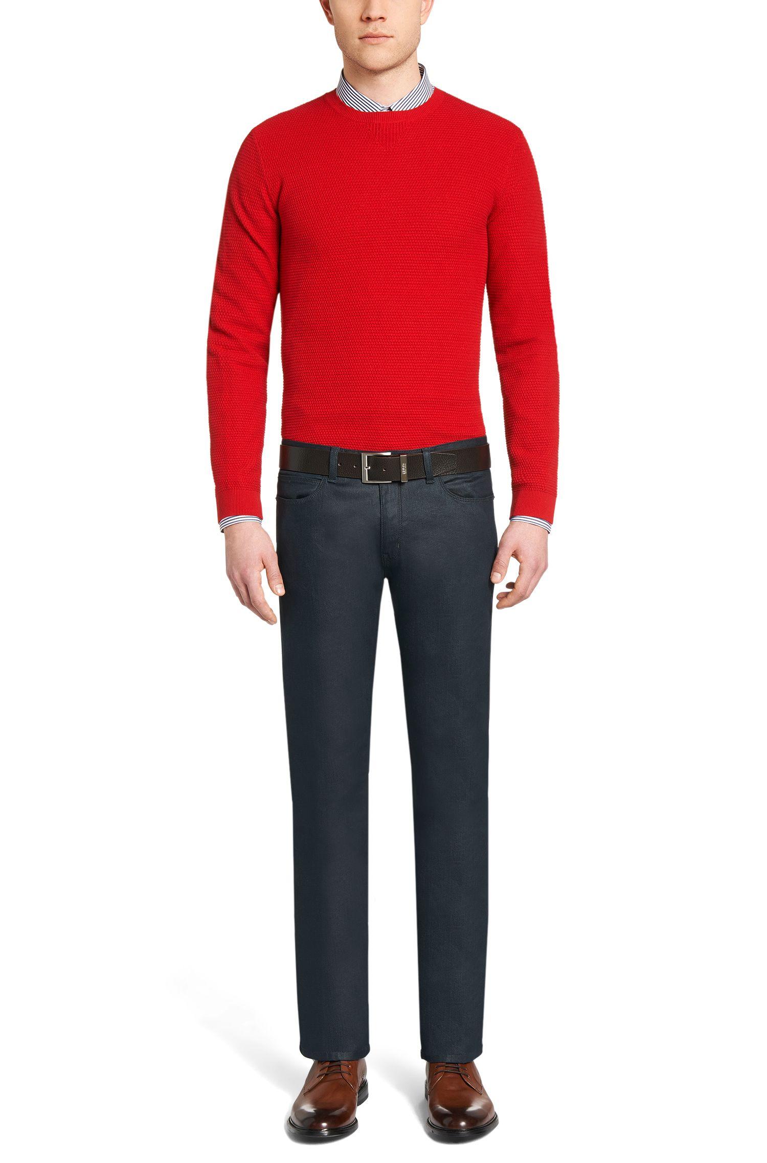Jeans Slim Fit en coton mélangé extensible: «HUGO708»