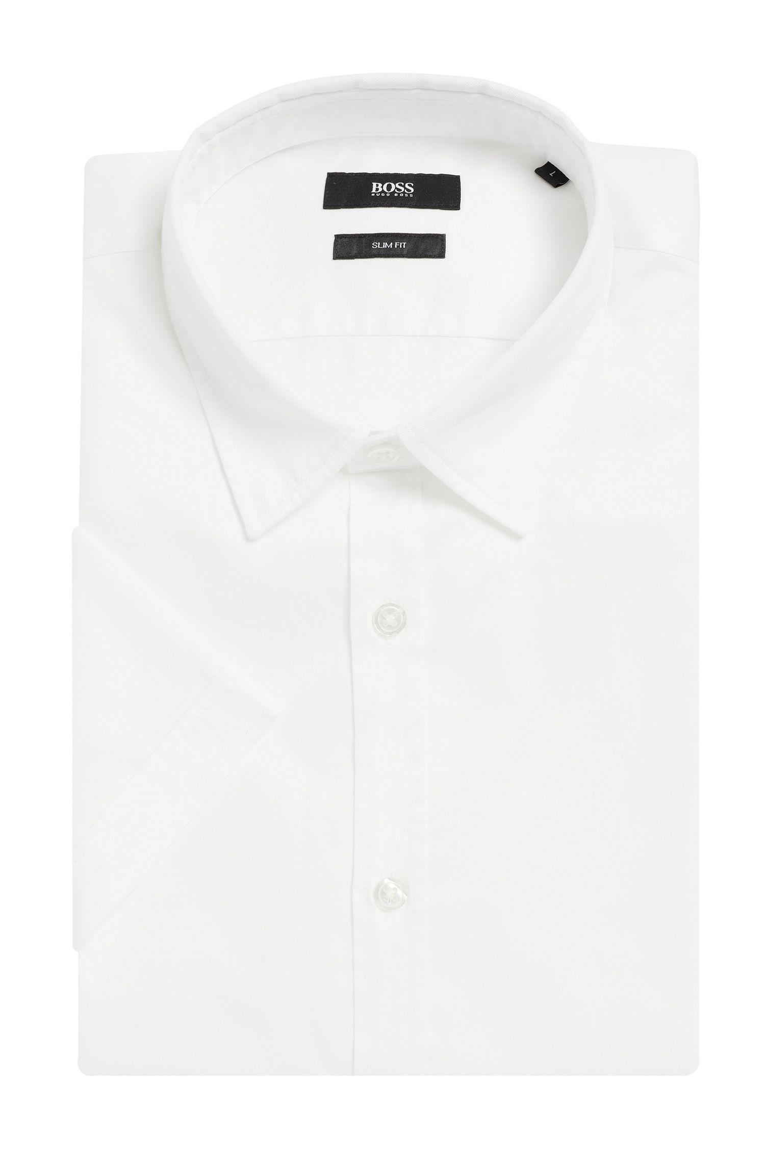 Chemise Slim Fit en coton à manches courtes: «Ronn»