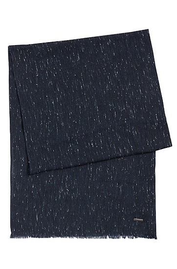 粘胶纤维混纺围巾:'Carrit',  415_Dark Blue