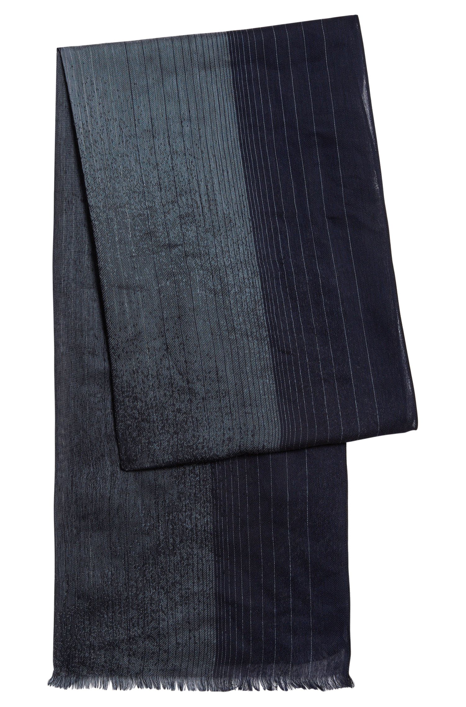 Finely striped scarf in viscose blend with silk: 'Carilo'