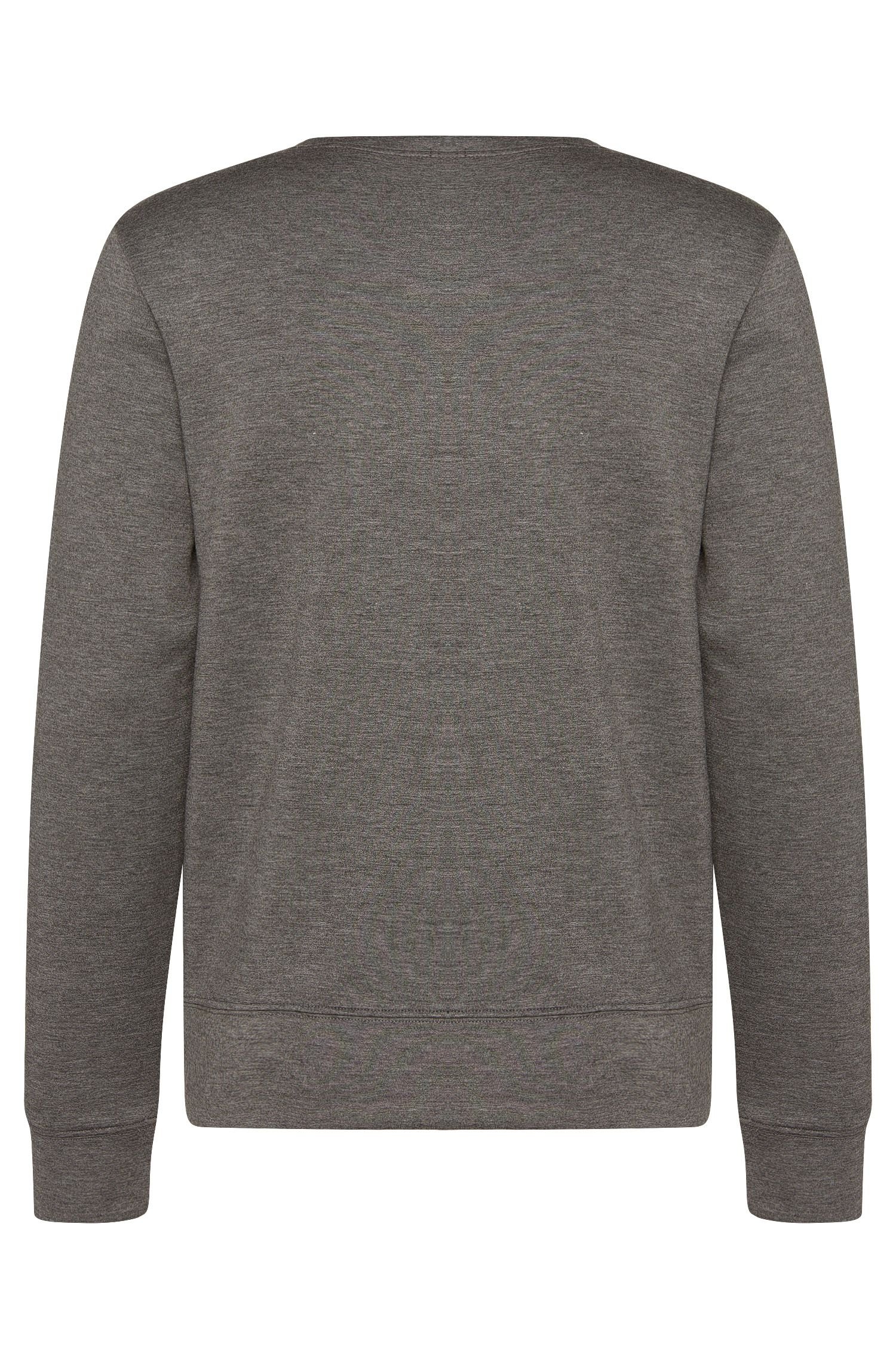 Gemêleerd slim-fit sweatshirt van viscose met stretch: 'Skubic 07'