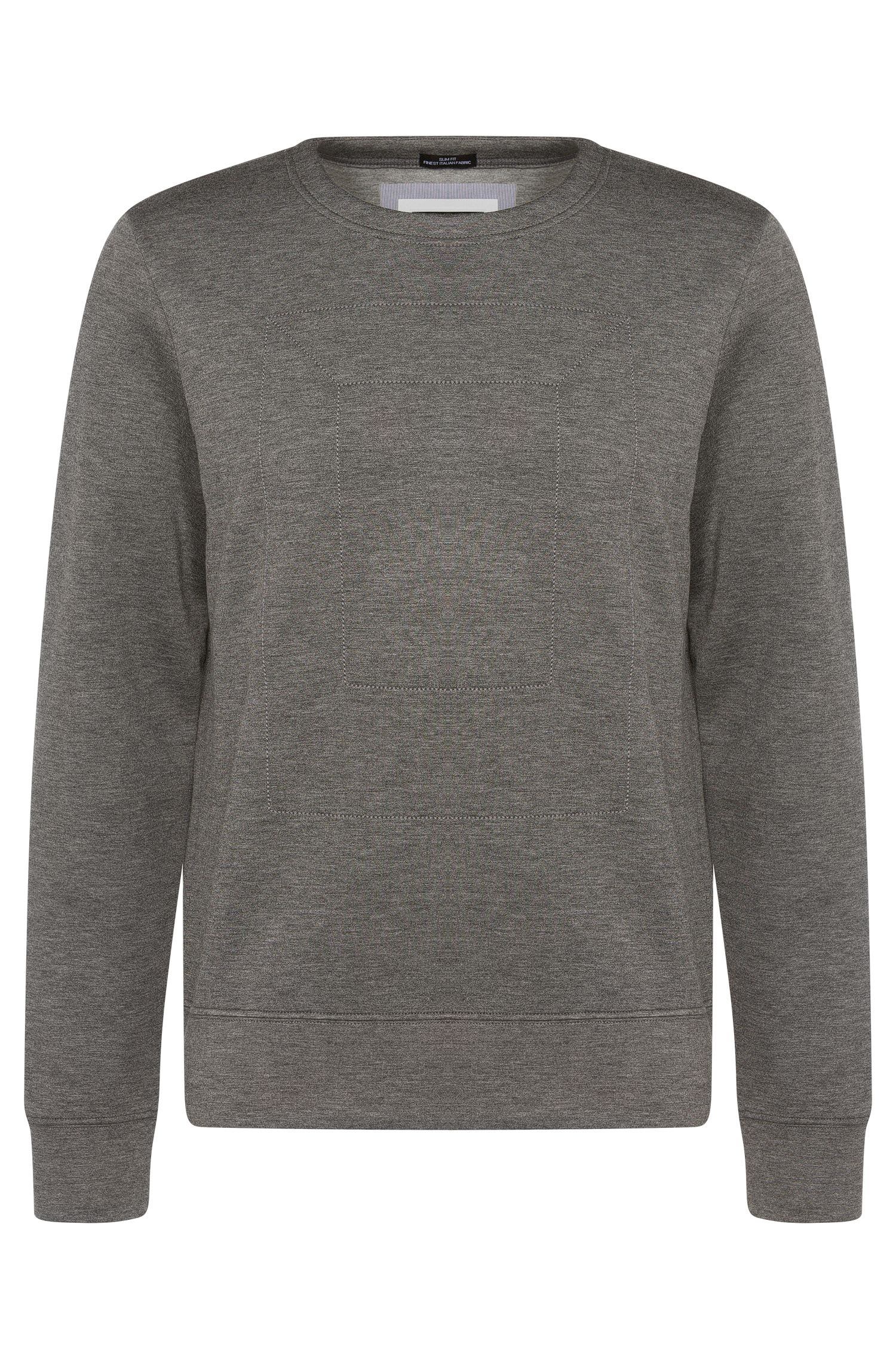 Meliertes Slim-Fit Sweatshirt aus Stretch-Viskose: 'Skubic 07'